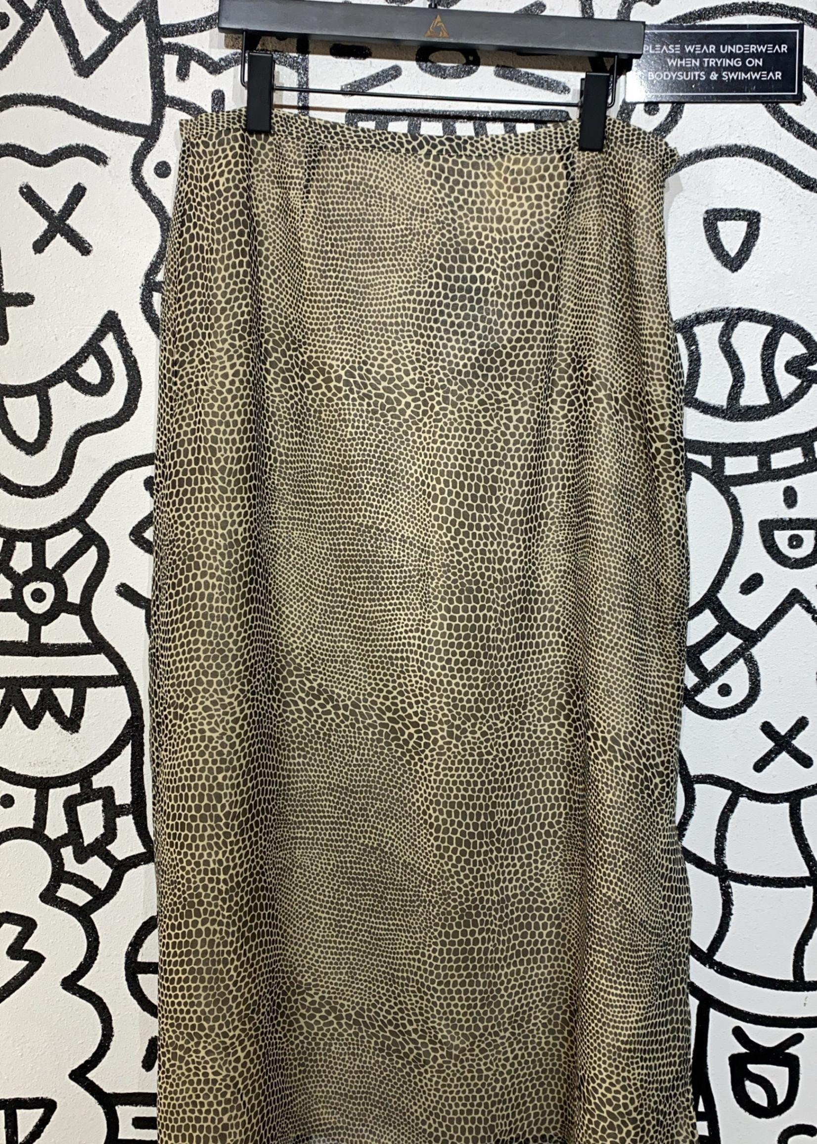 New York City Design Co Vintage animal print skirt L