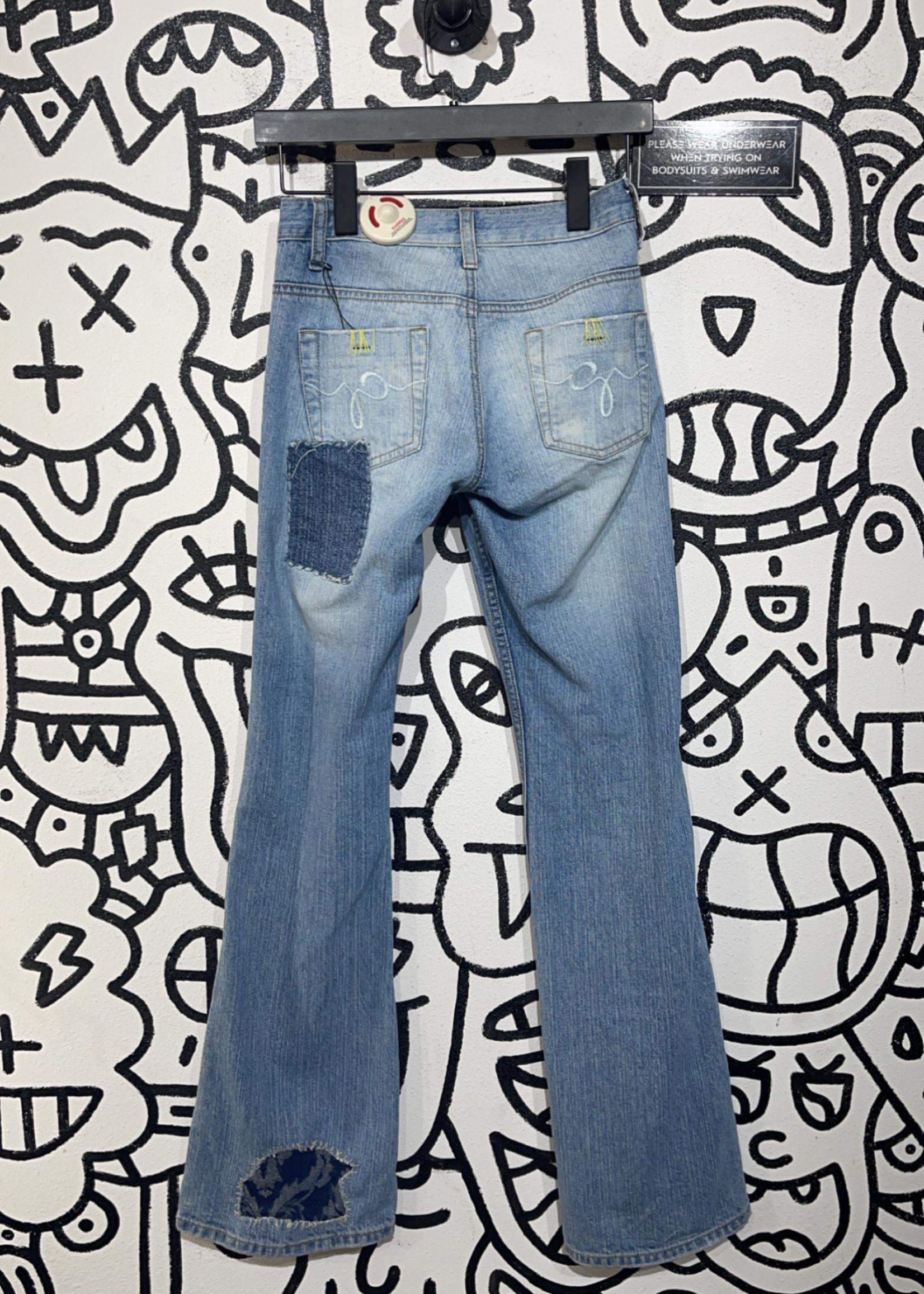 Vintage y2k lazer jeans low rise flare pants 24