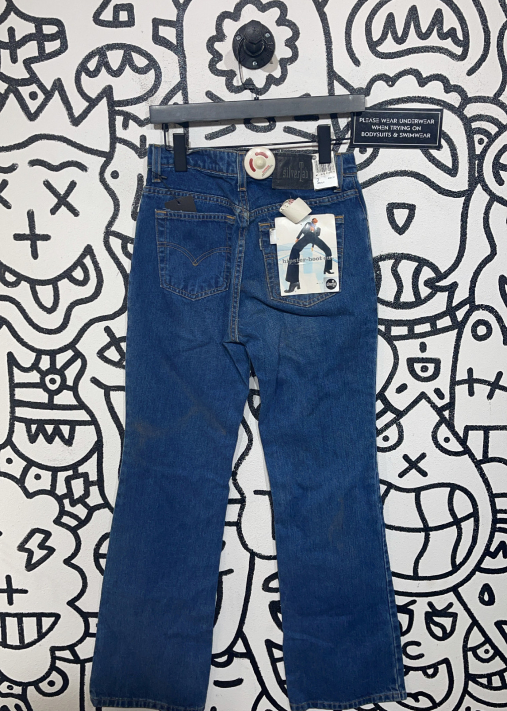 Deadstock silver tab hipster boot cut jeans 28