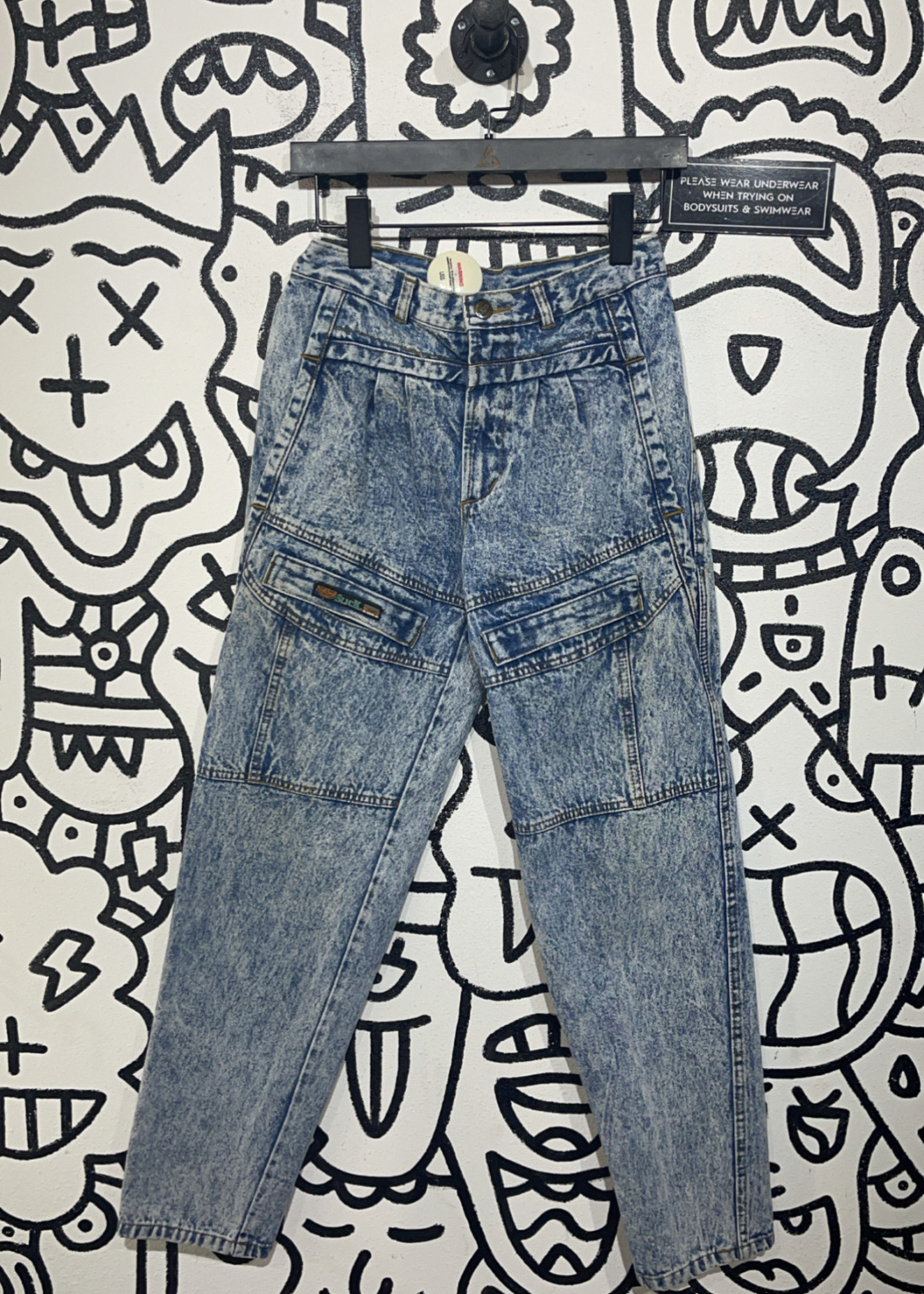 Vintage sick acid high waisted jeans 26