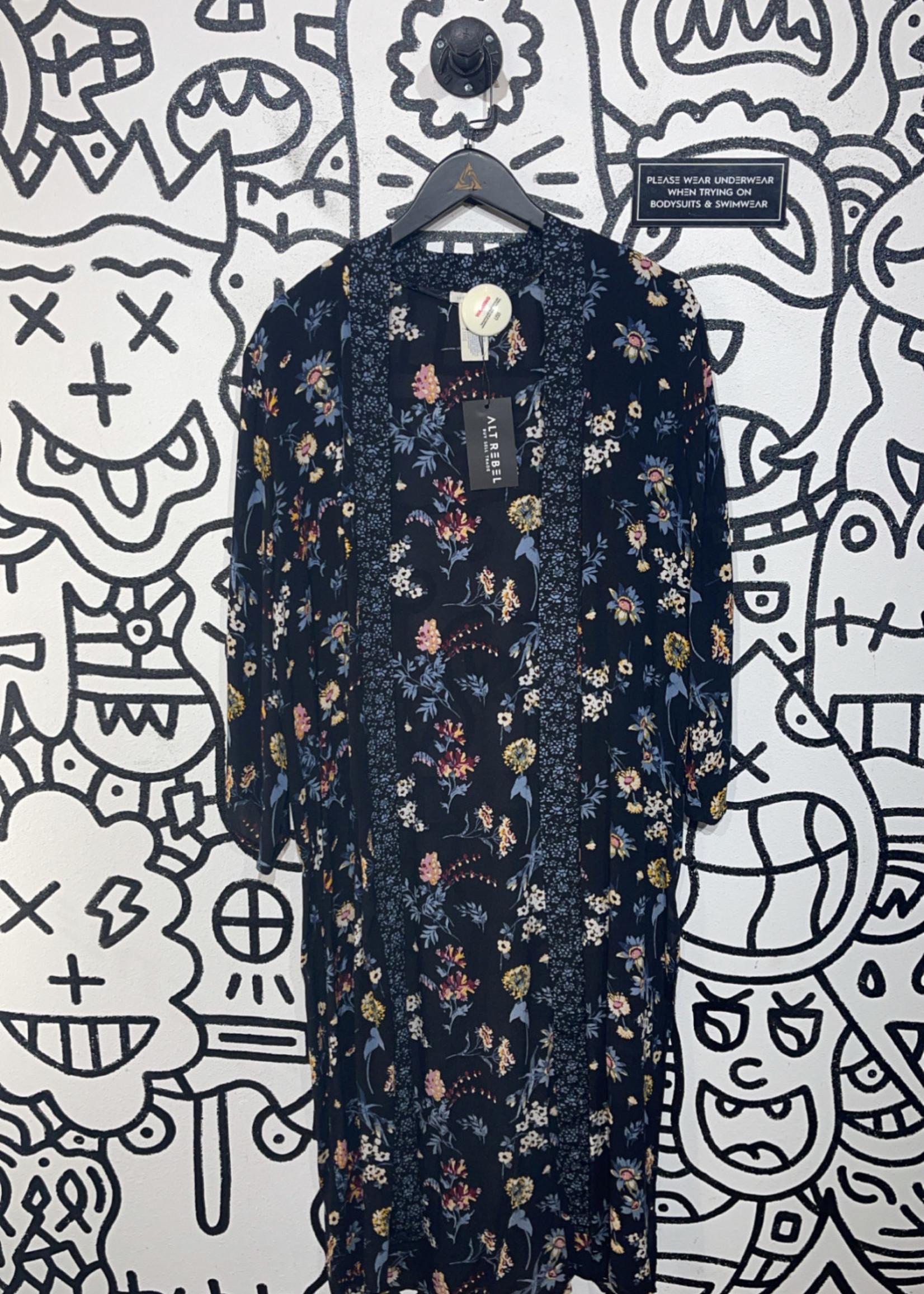 Lucky brand floral kimono OS