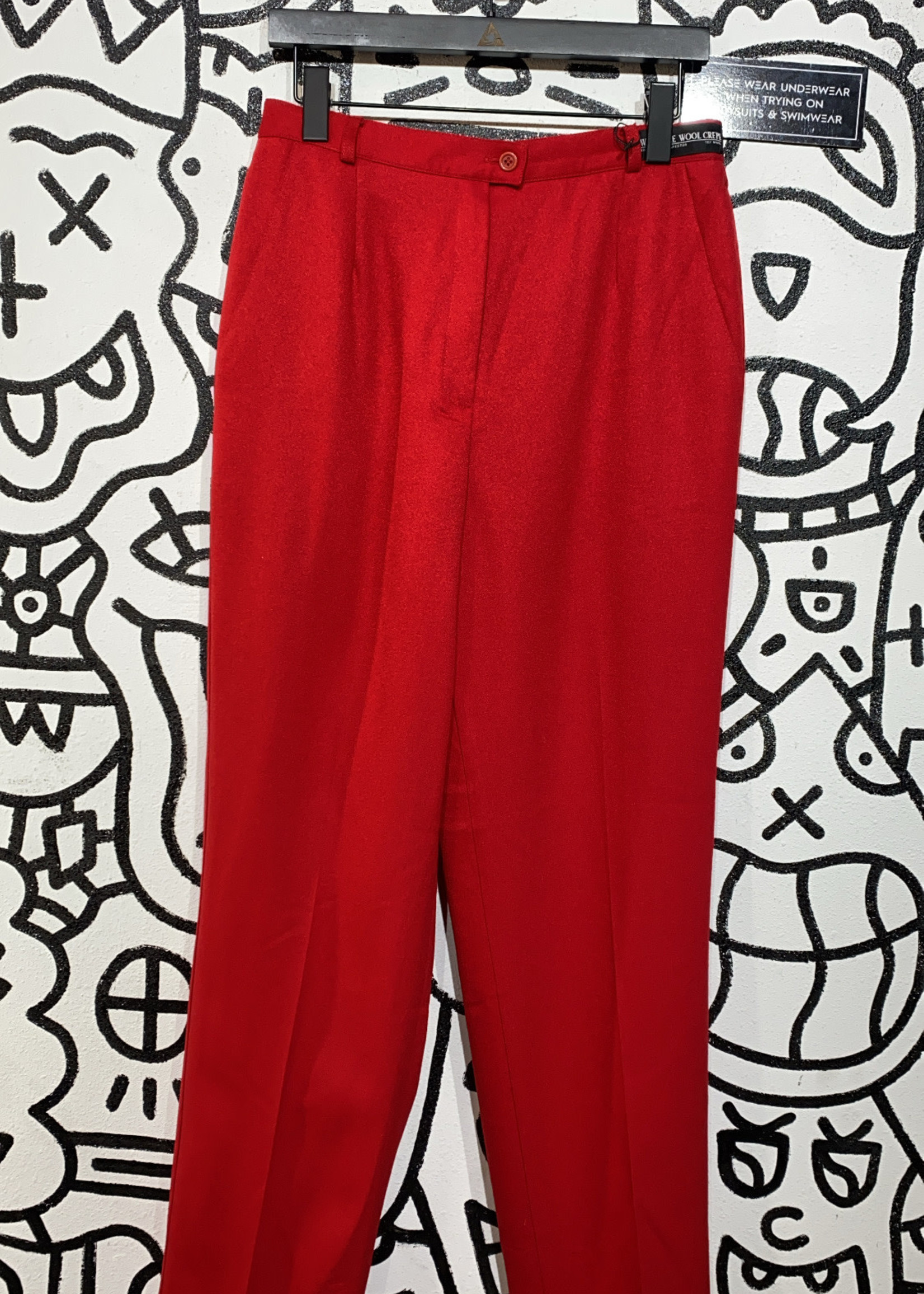 """Napa Vintage Red Washable Wool Trousers 30"""""""