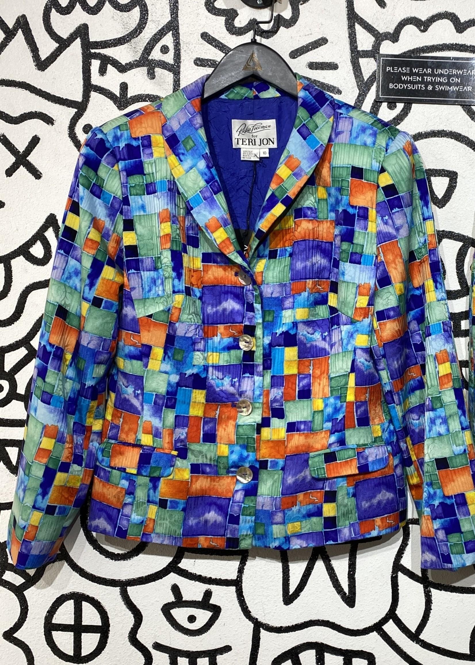 Rickie Freeman Colorful Blazer L