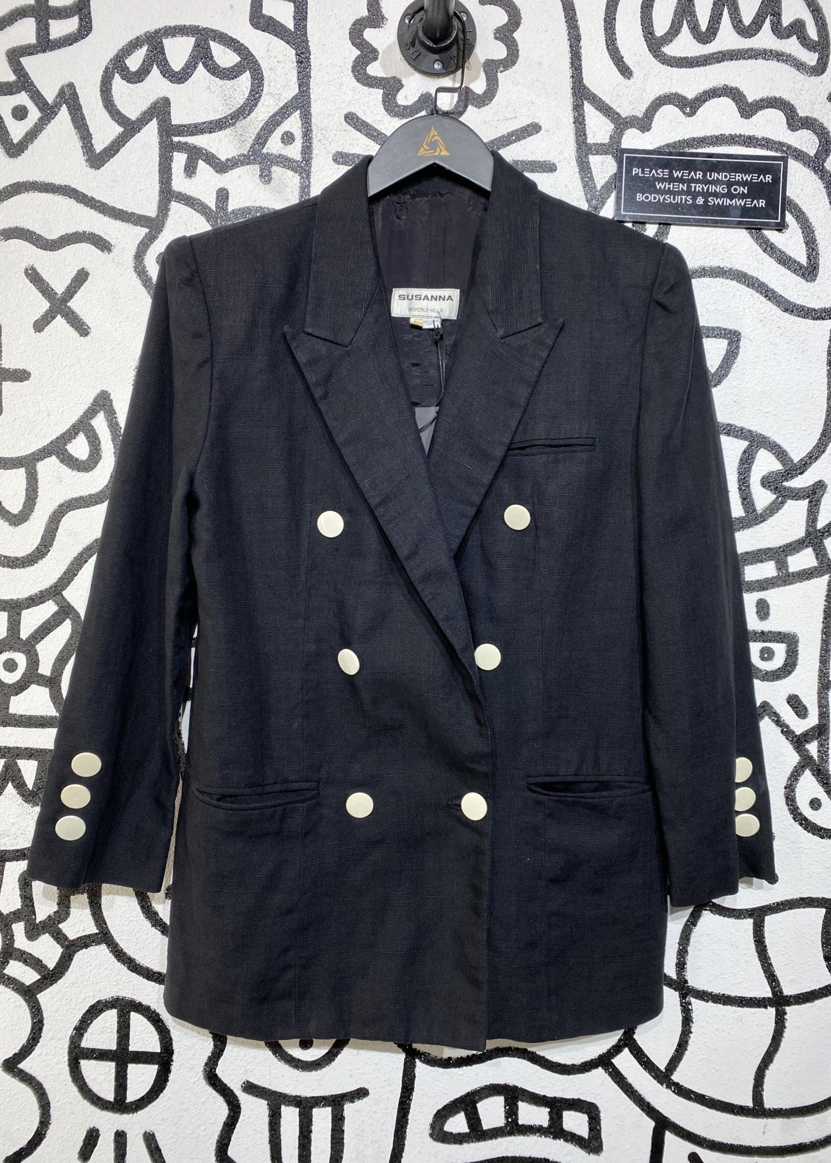 Susana Beverly Hills Vintage Black Blazer 6/M