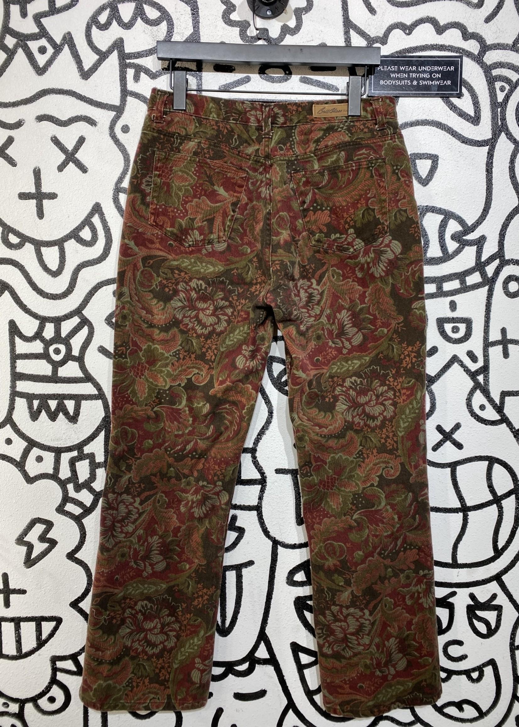"Bill Blass Jeans Brown Paisley Jeans 30"""