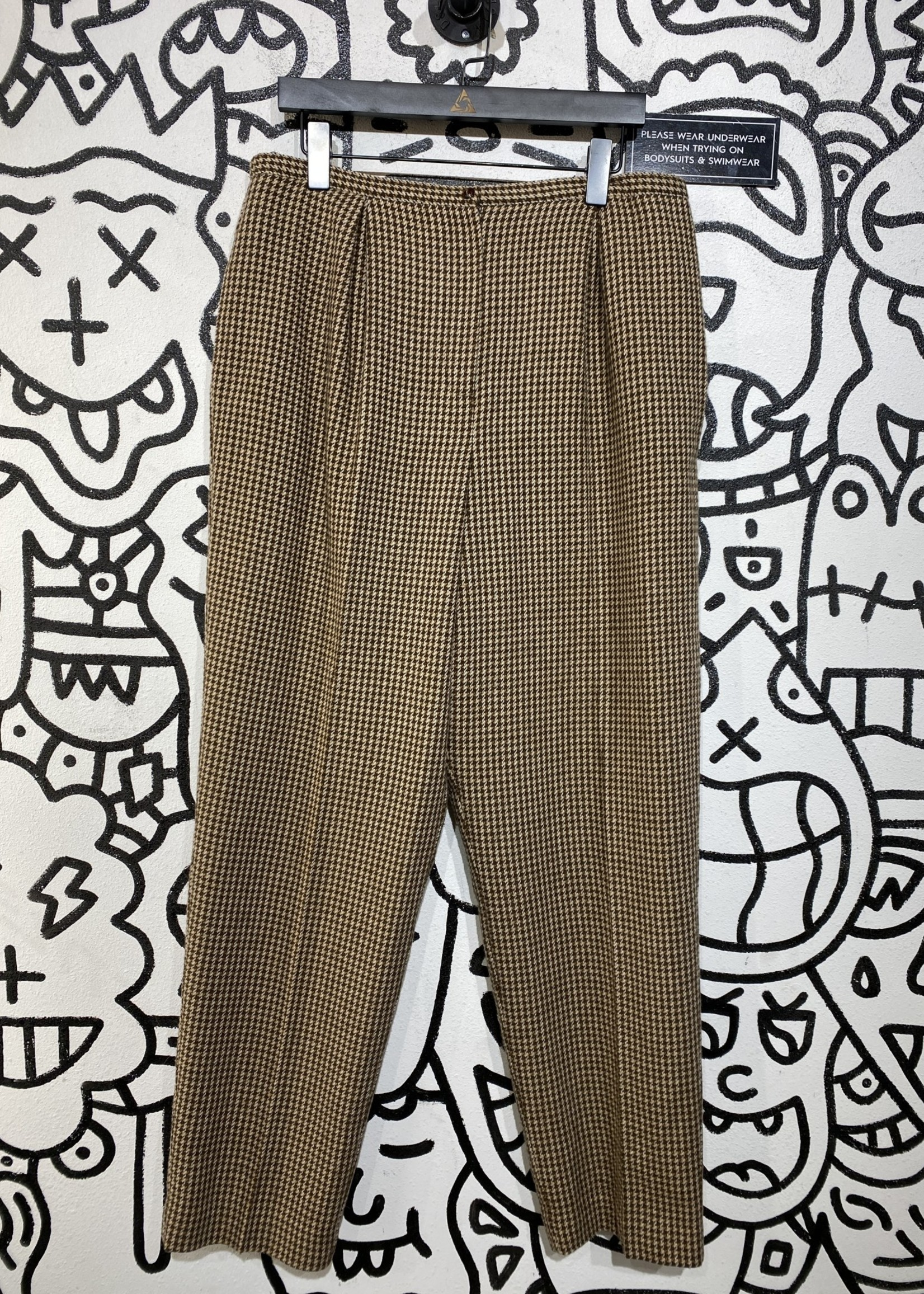 """Villager Brown Houndstouth Trousers 36"""""""