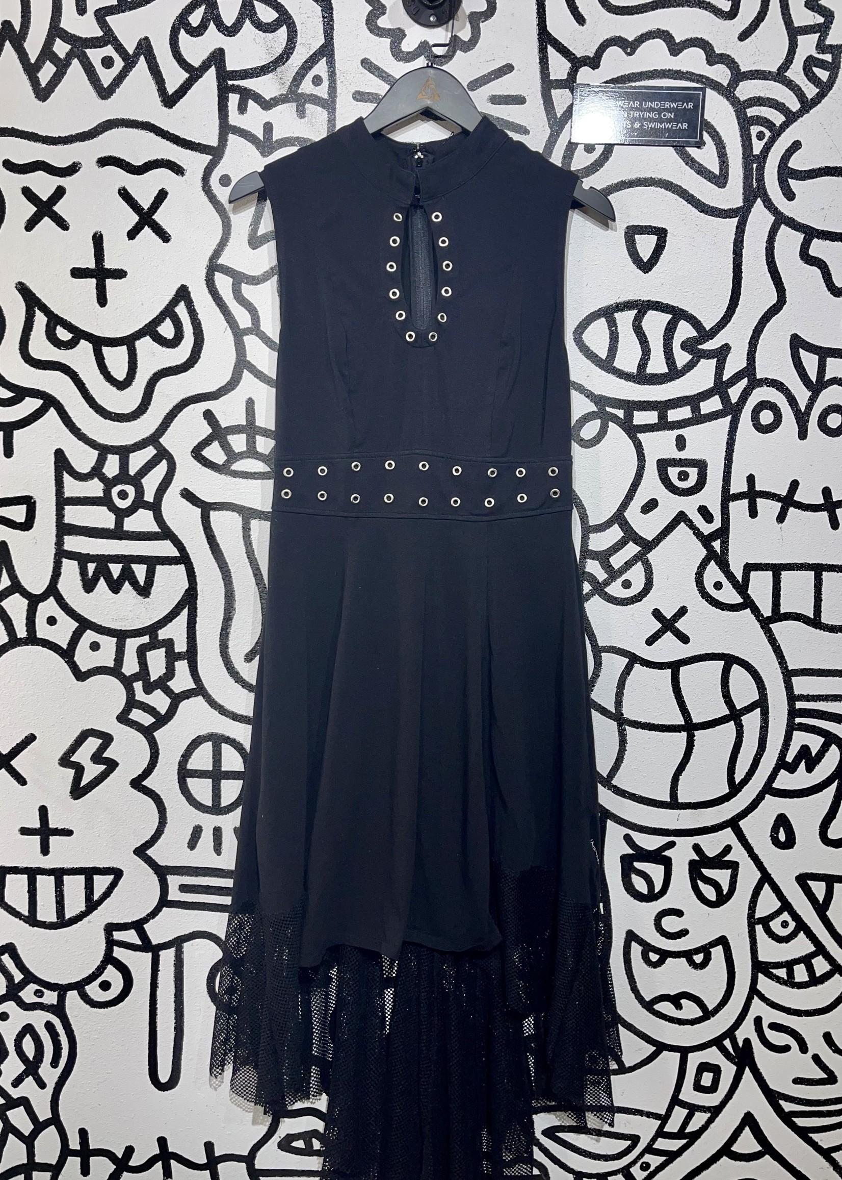 Tripp black high neck dress S