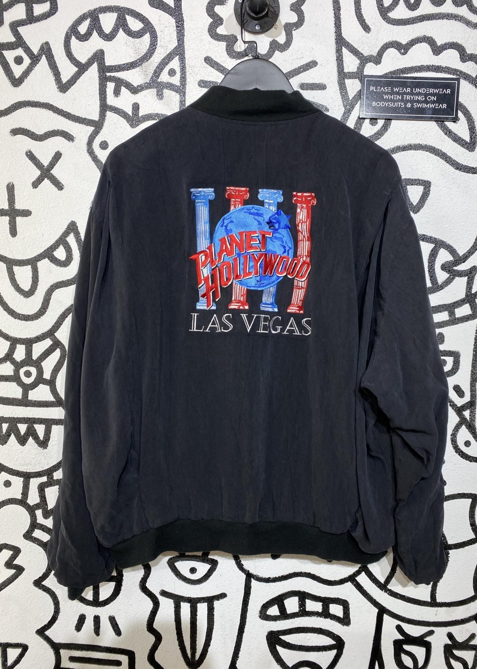 Vintage Planet Hollywood Black Bomber Jacket XL
