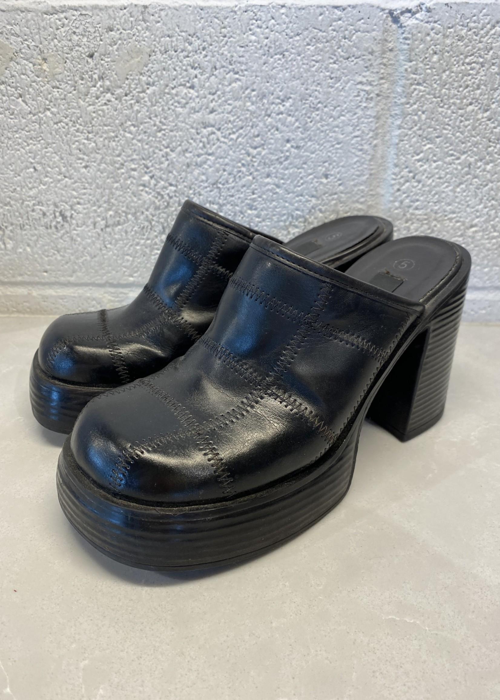 Vintage Xhilaration '90s Black Chunky Heels 5