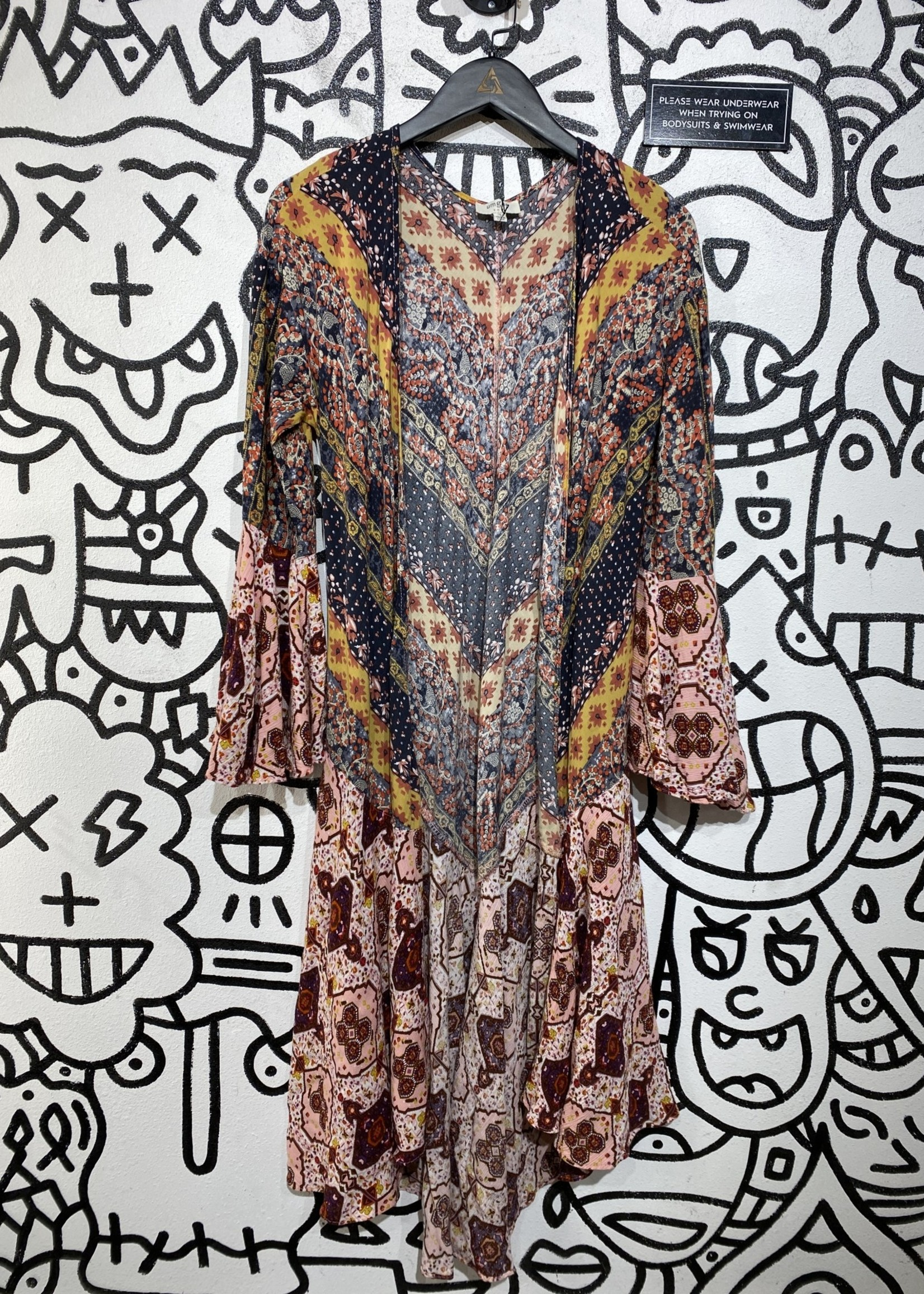 Umgee Multicolor Patterned Kimono S