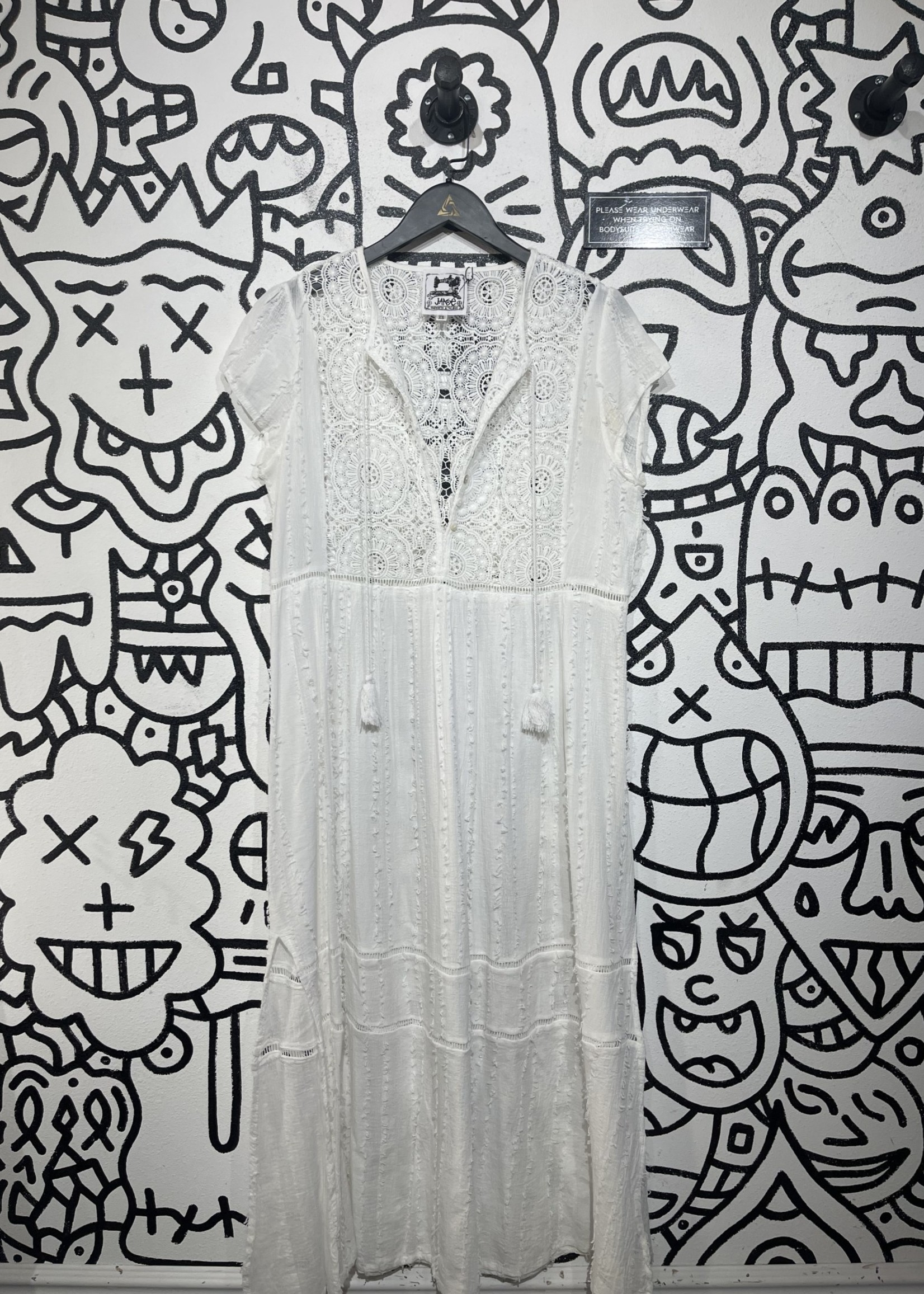 Jaase White Maxi Dress XS