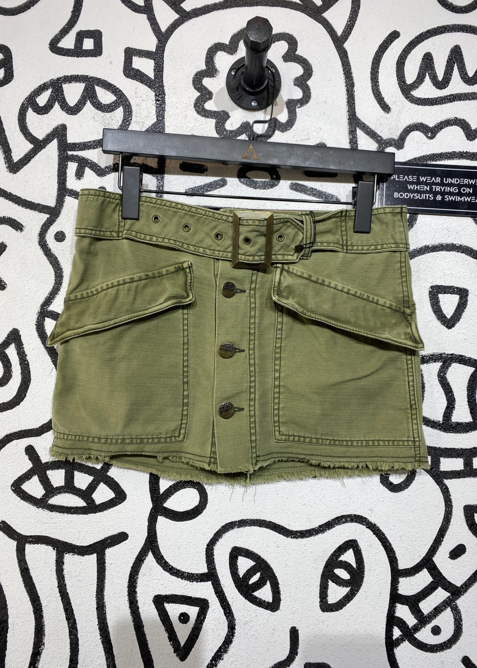 Free people green mini skirt 2