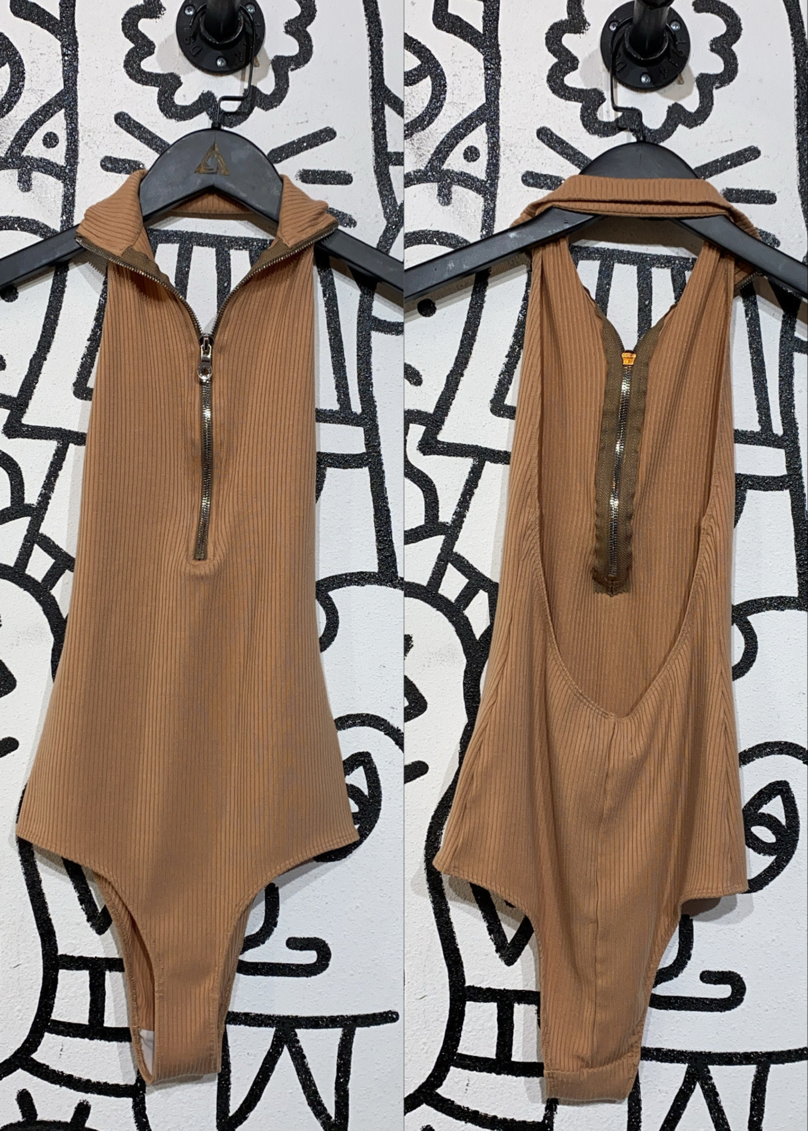 Reformation tan bodysuit XS
