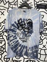 ALT REBEL Faded Blue Tie Dye Tee L