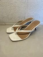 INC White Square Toe Heels 7.5