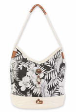 Sun & Sand S&S - Rope/Fabric Scoop Tote (6338)