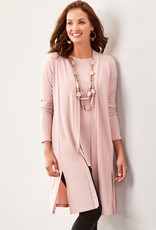 Charlie Paige CP - Side Slit Long Cardigan