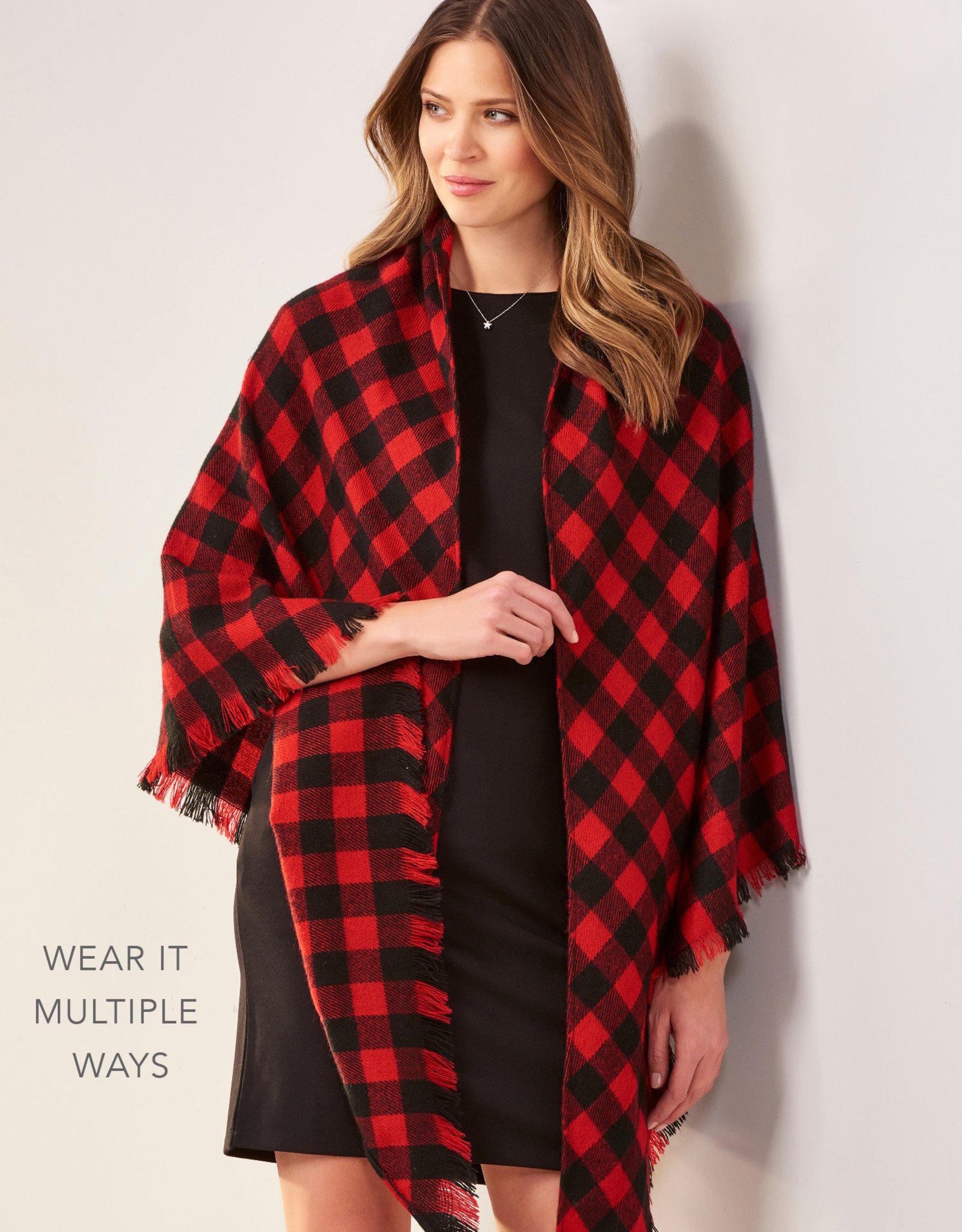 Charlie Paige CP - Multiwear Plaid Soft Ruana