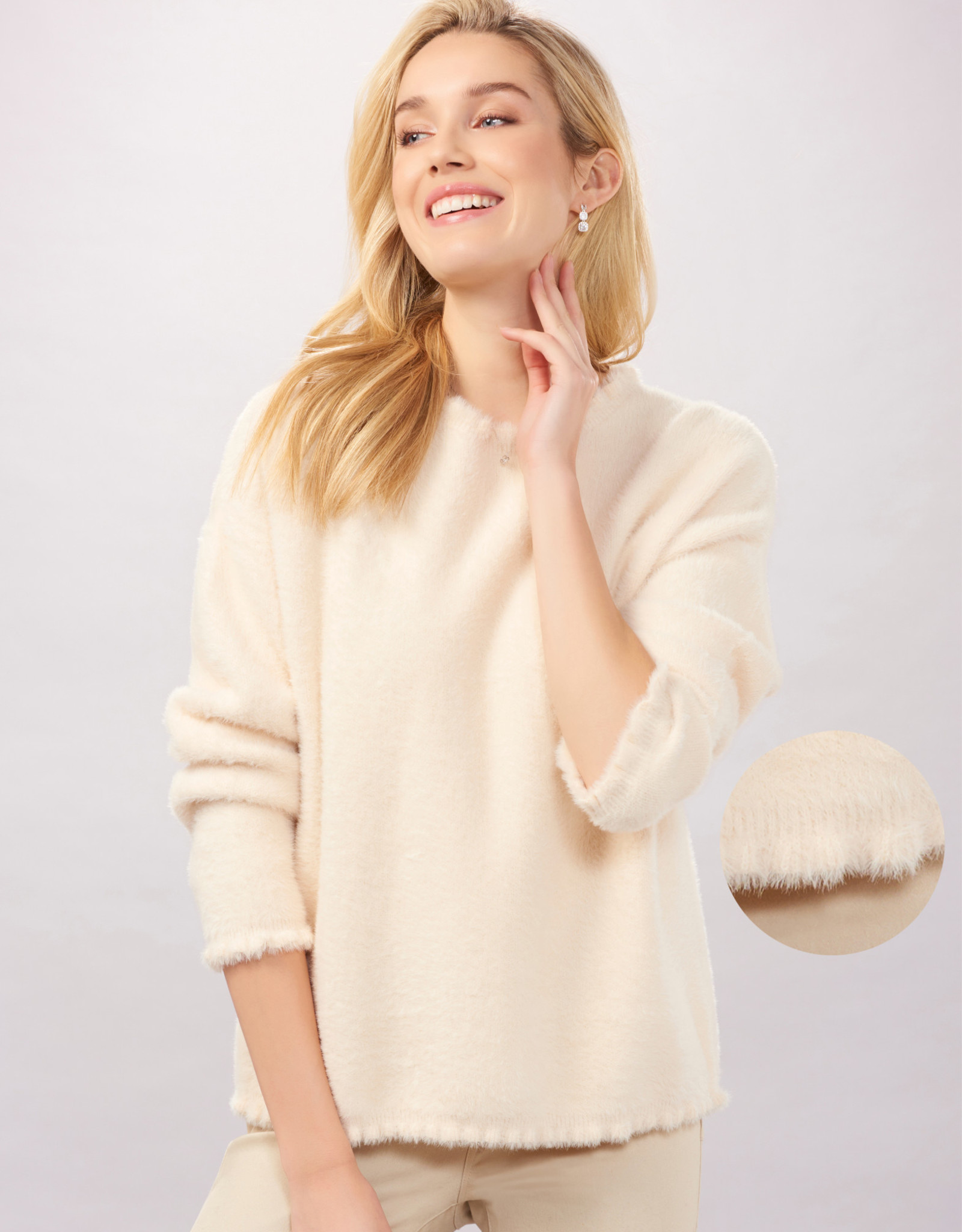 Charlie Paige CP - Micro Ruffle Fuzzy Sweater