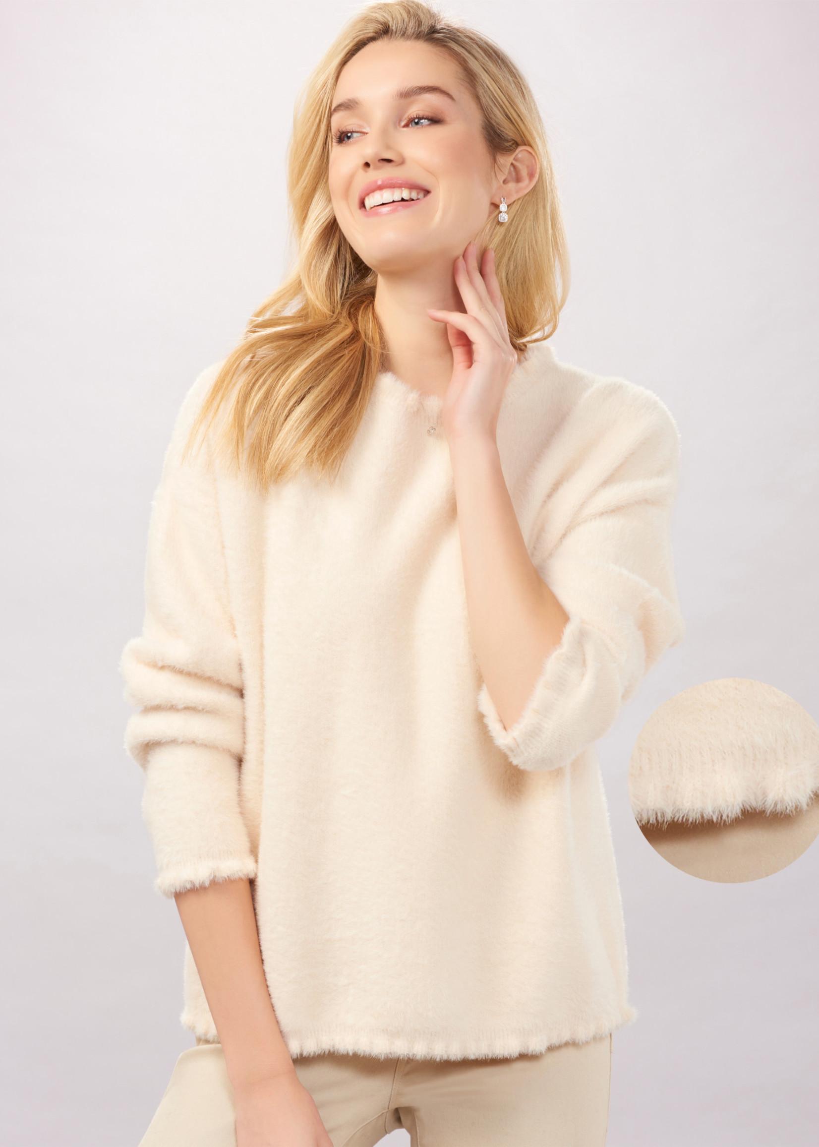 Charlie Paige CP - Micro Ruffle Fuzzy Sweater