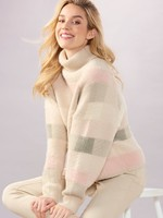 Charlie Paige CP - Soft Plaid Pullover Sweater
