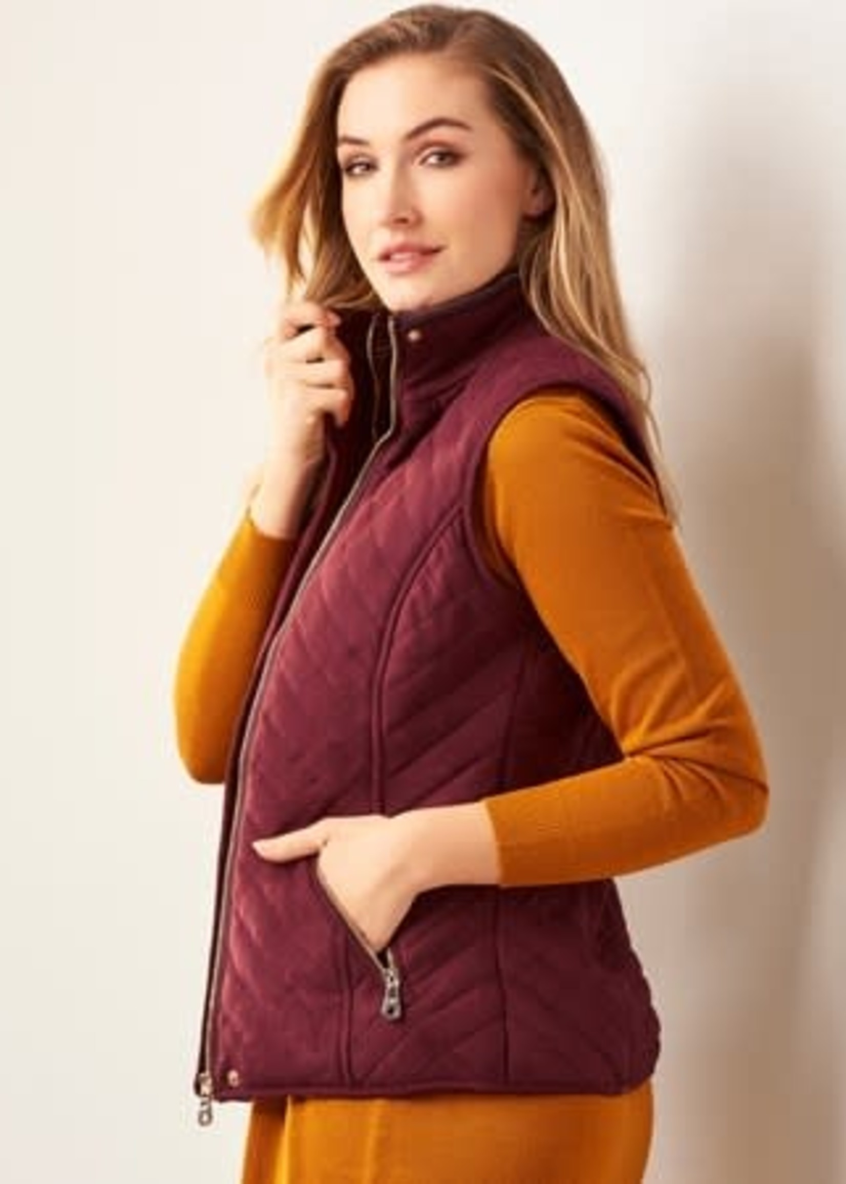 Charlie Paige CP - Quilted Zip Front Vest