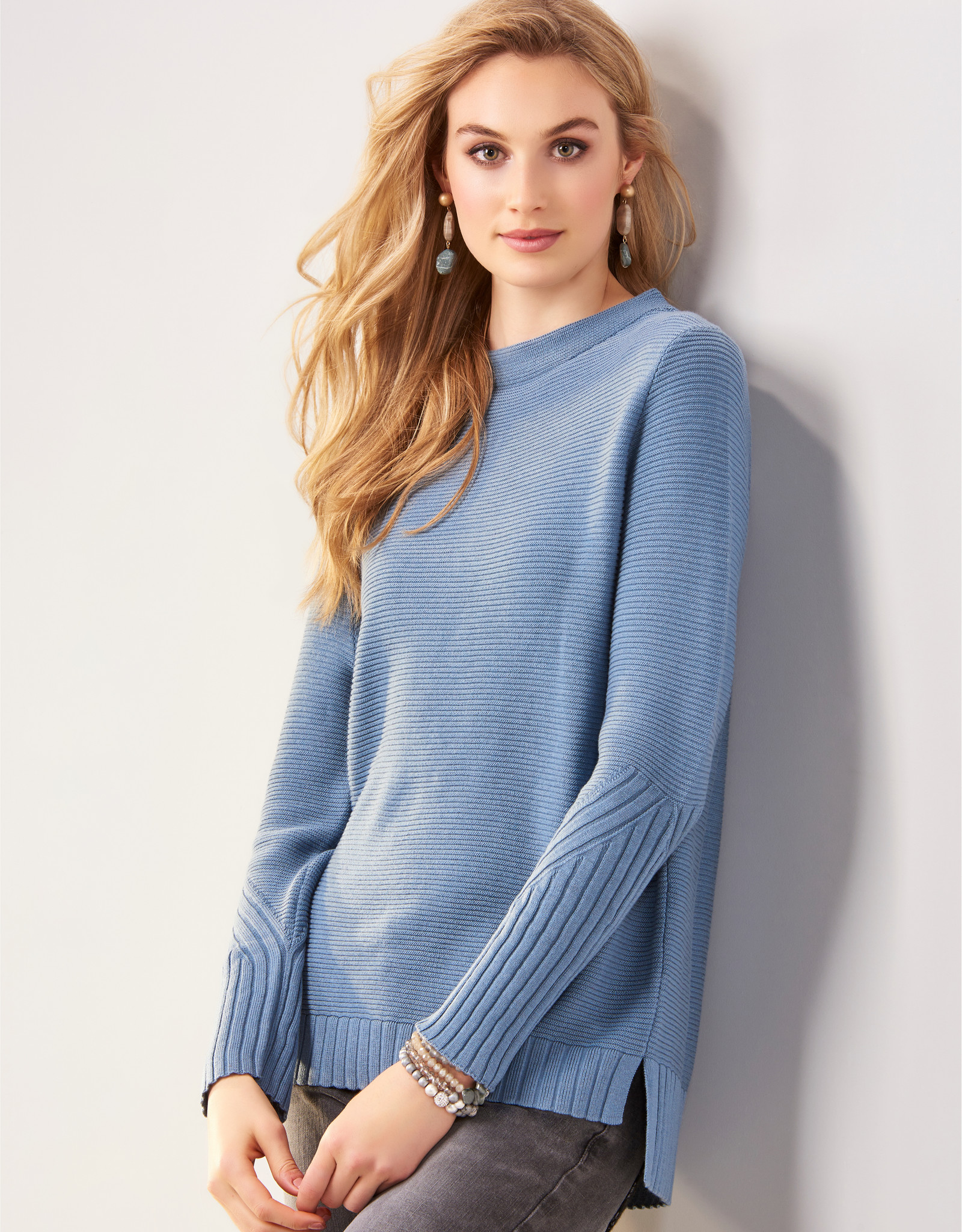 Charlie Paige CP - Ribbed Mock Neck Sweater (2 colors)