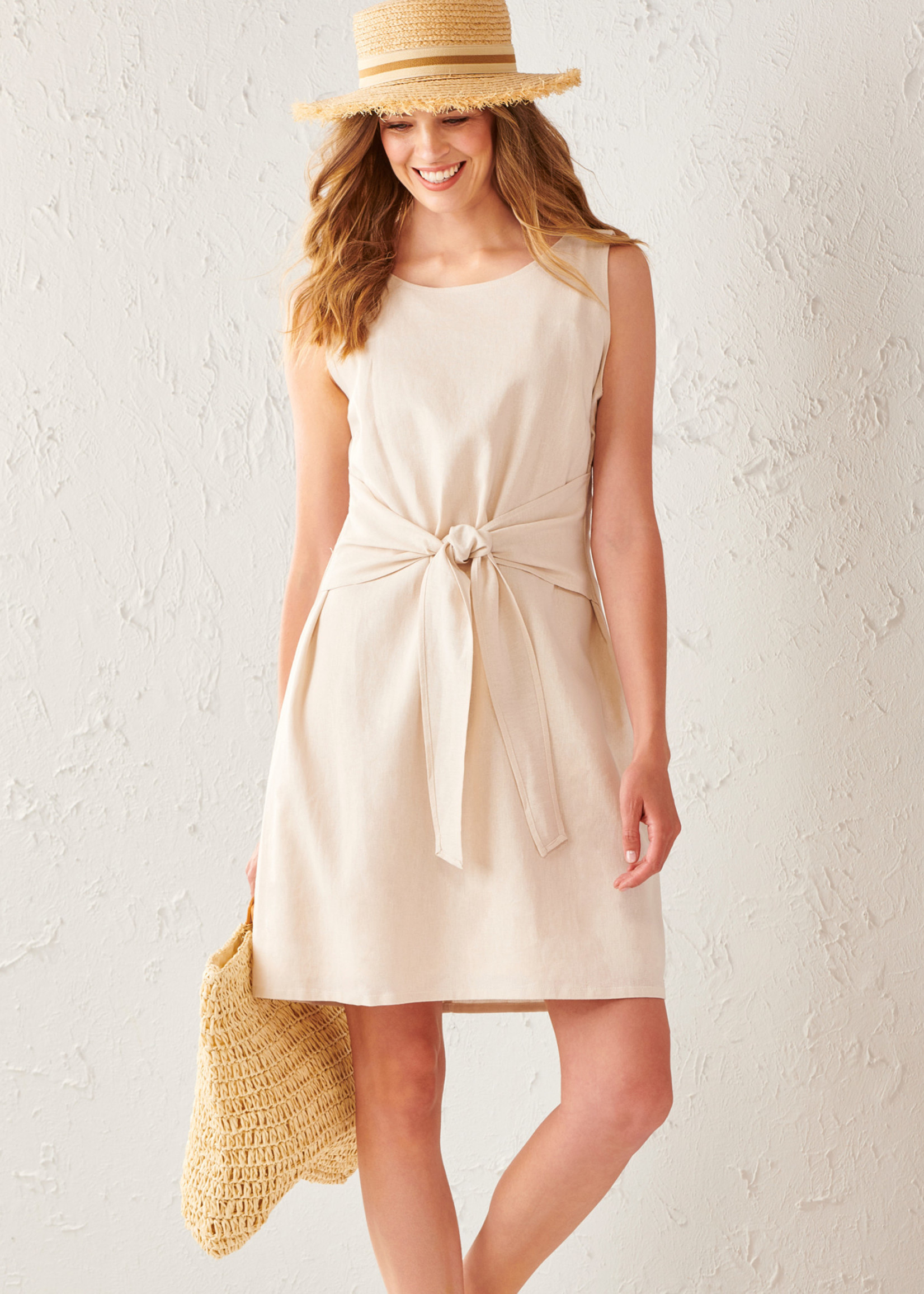 Charlie Paige CP - Woven Tie Front Dress