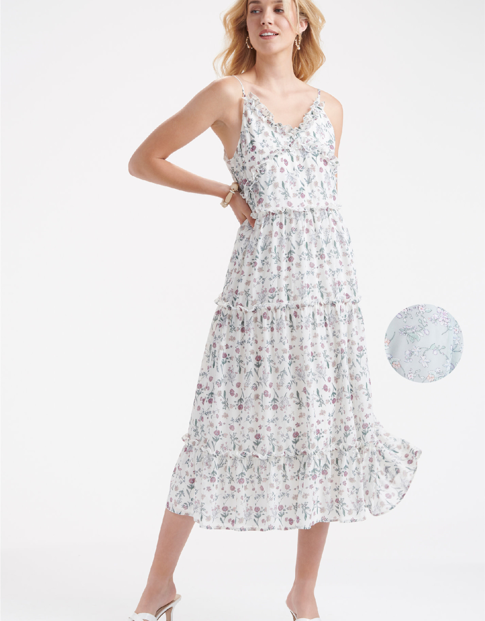 Charlie Paige CP - Floral Print Dress (2 Colors)