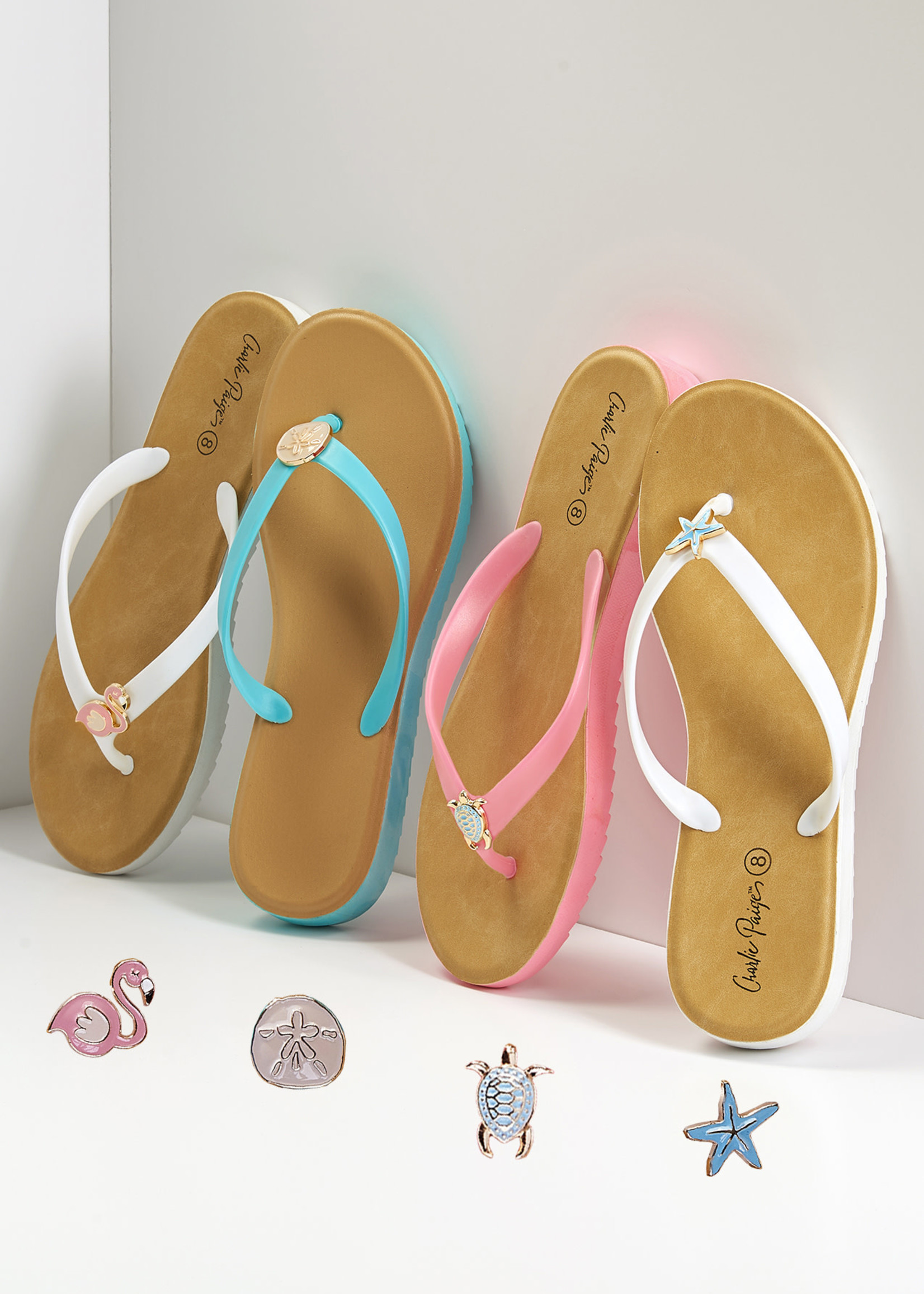 Charlie Paige CP - Charm Flip Flops ( 4 assorted)
