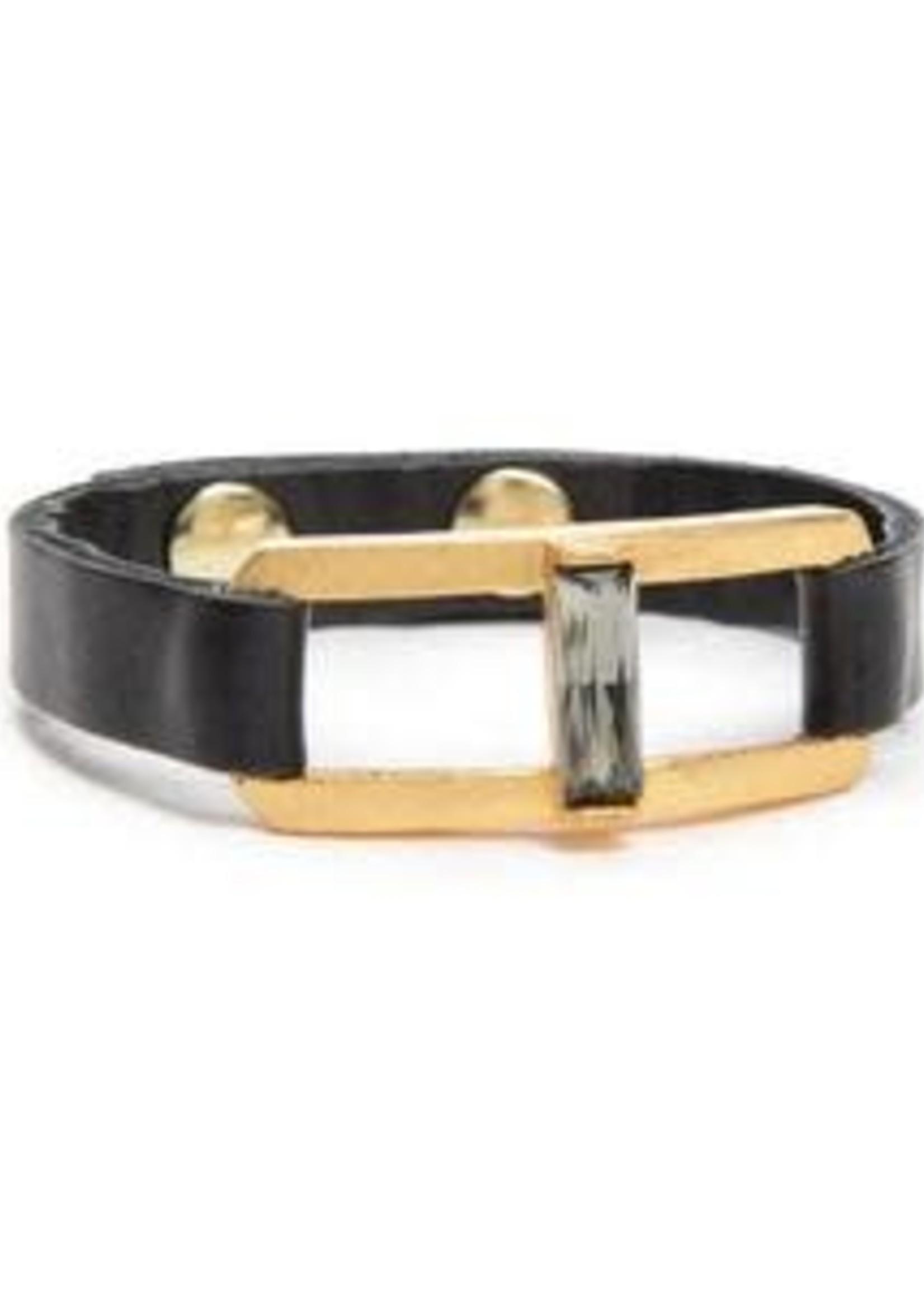 Rebel Designs Rebel - Gold Plate Bracelet w/Topaz Stone (RR1077)