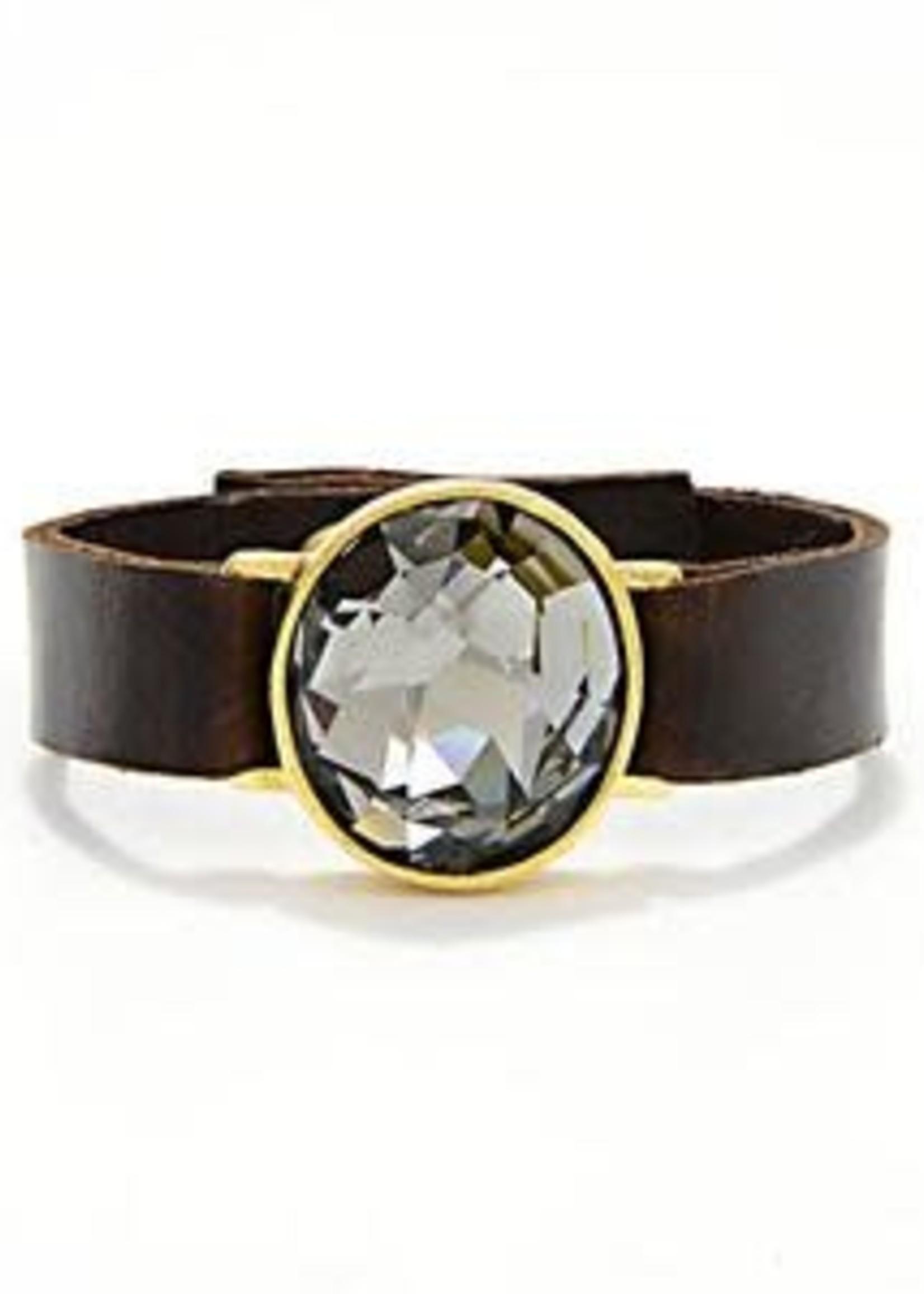Rebel Designs Rebel - Gold Plate w/Black Diamond Bracelet (RR1014)