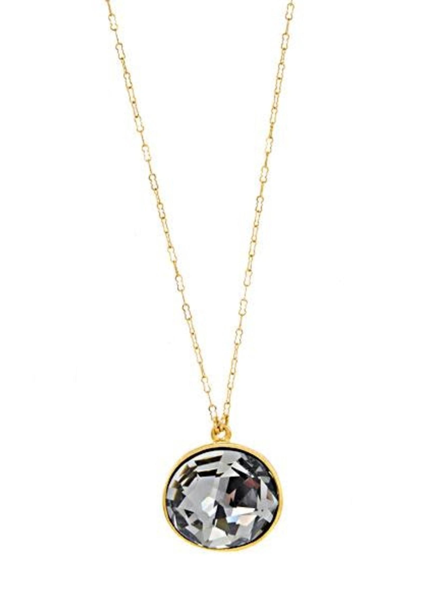 Rebel Designs Rebel - Gold Single Crystal Necklace (RR128)