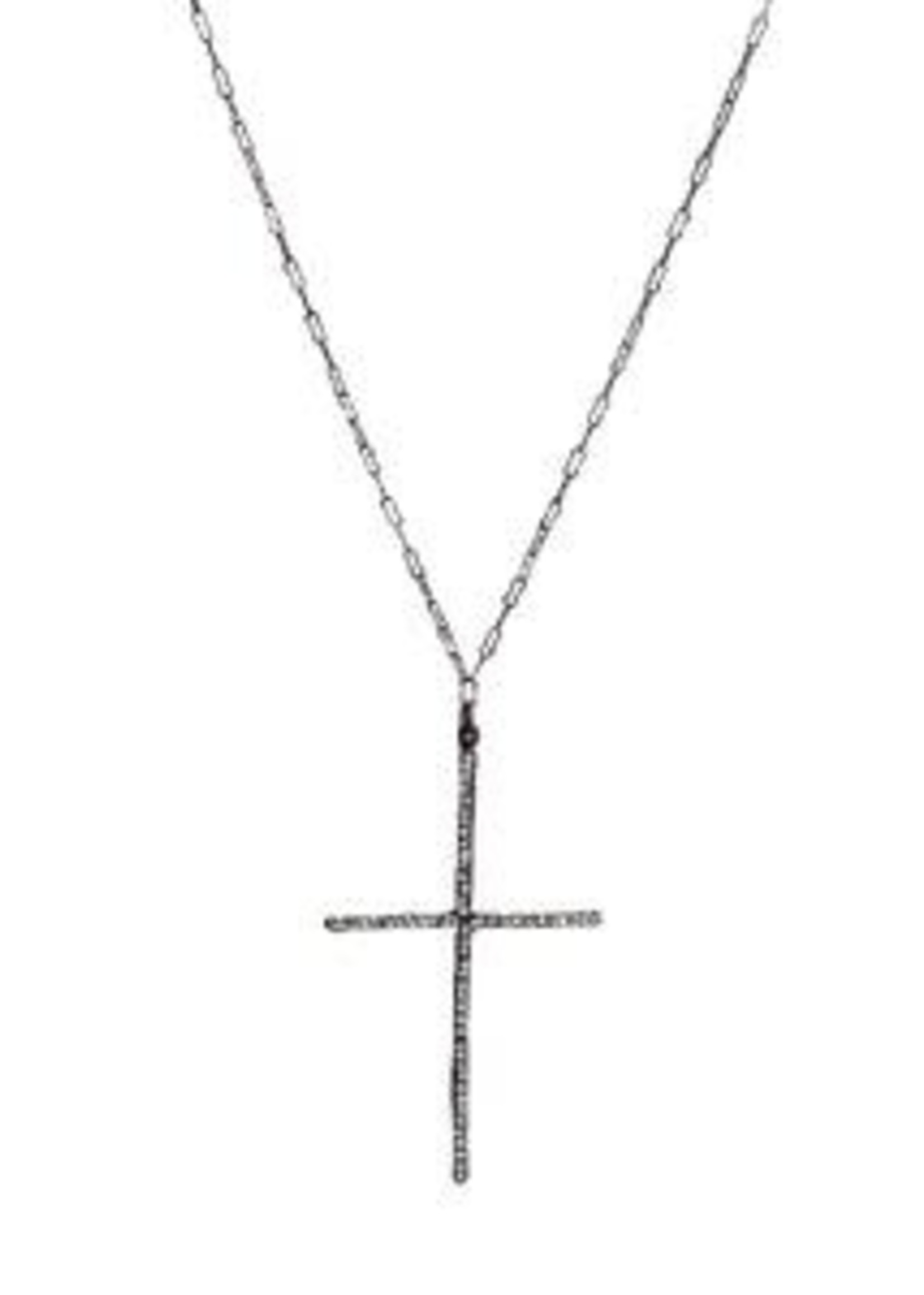 Rebel Designs Rebel - Double L Bar Cross w/Black Diamonds (1887)