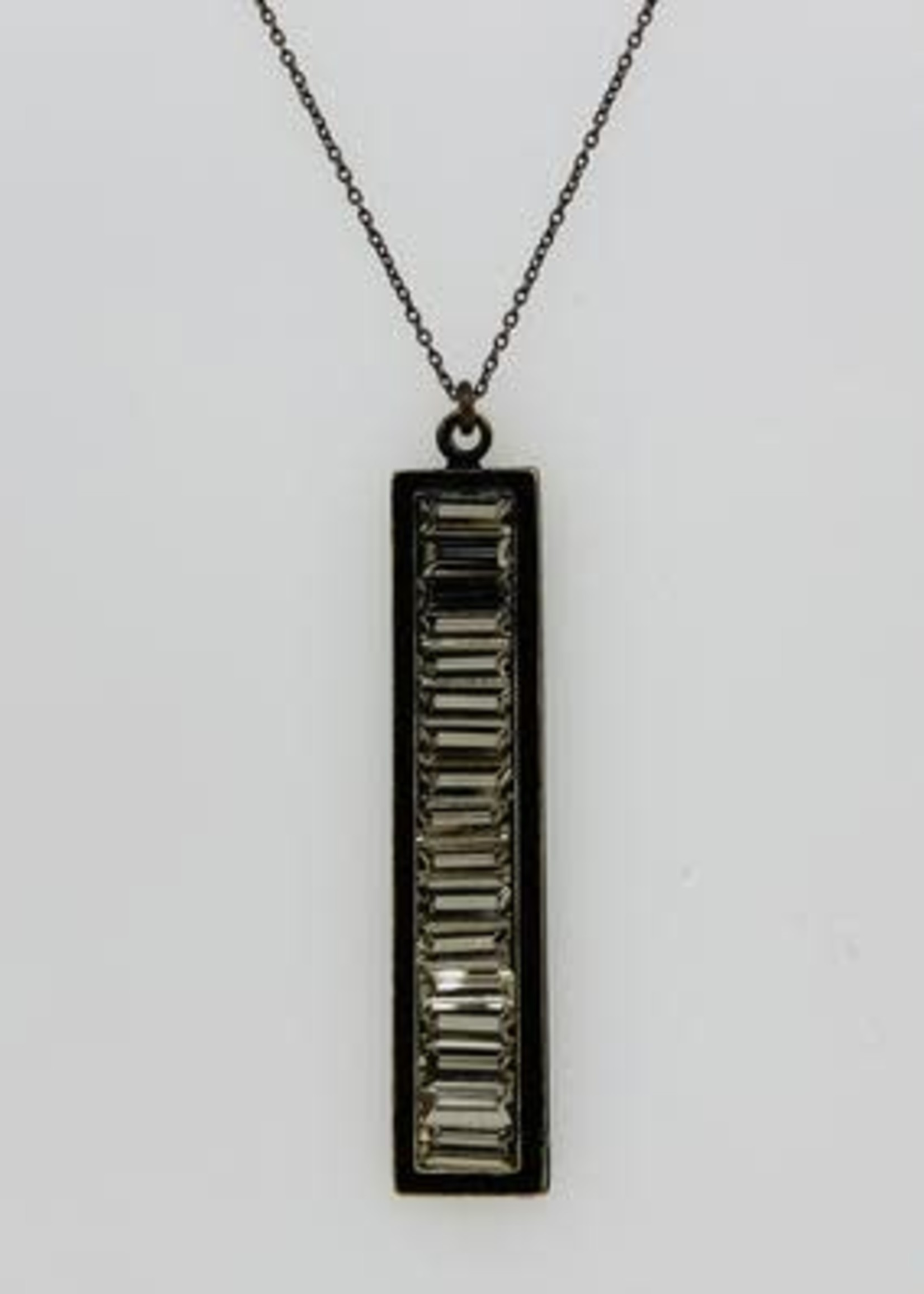 Rebel Designs Rebel - Rectangular Baguette Necklace (2088)
