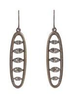 Rebel Designs Rebel - Oval drop Earrings w/Black Diamonds (3009)