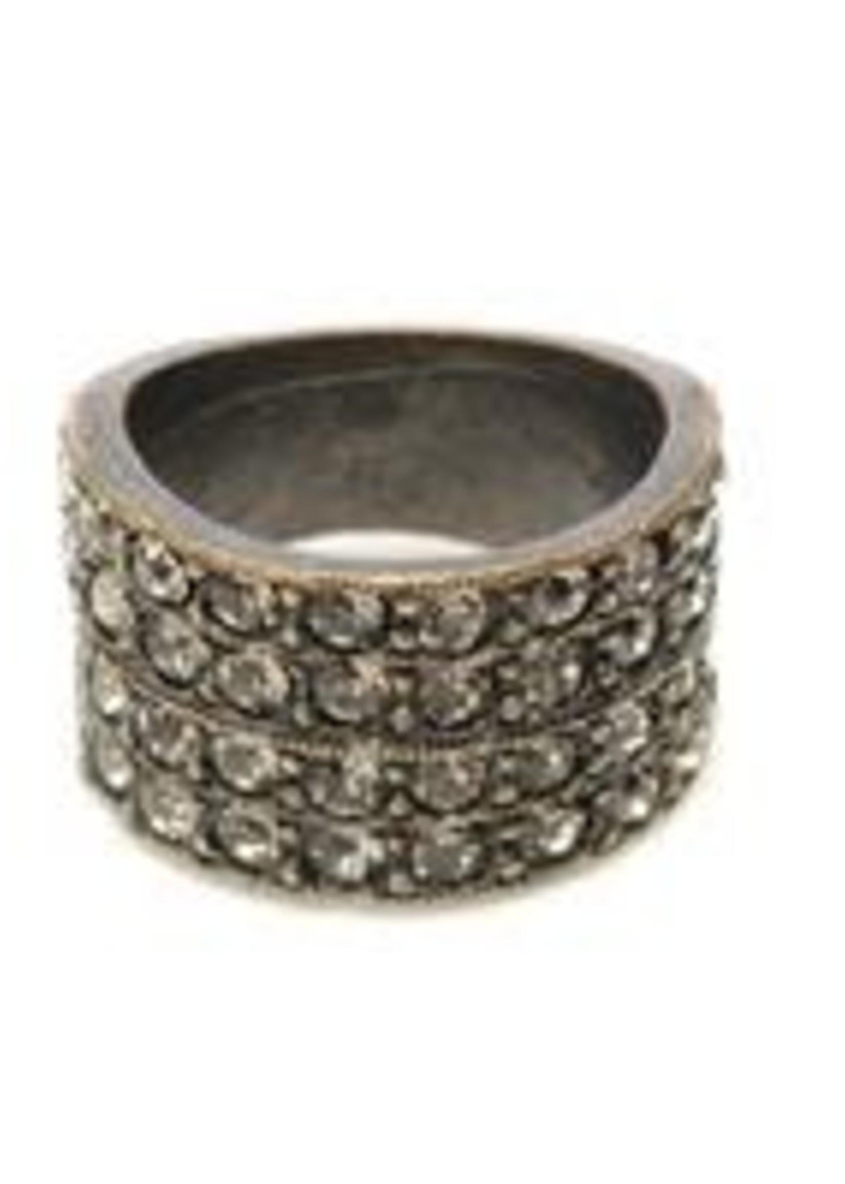 Rebel Designs Rebel - 4 Row Band Ring (R11 - MOP)
