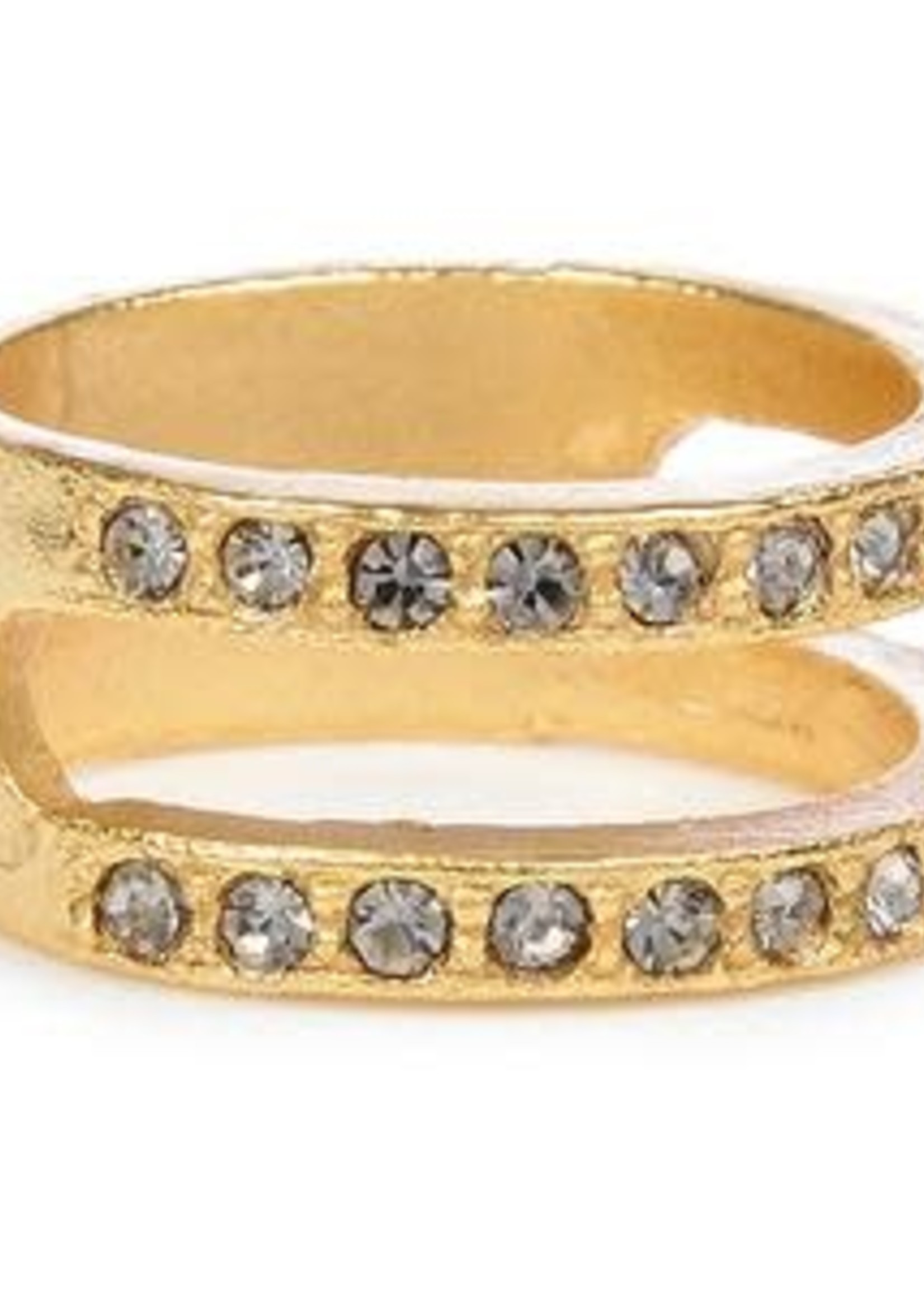 Rebel Designs Rebel - Gold Ring w/Crystals (RR1)