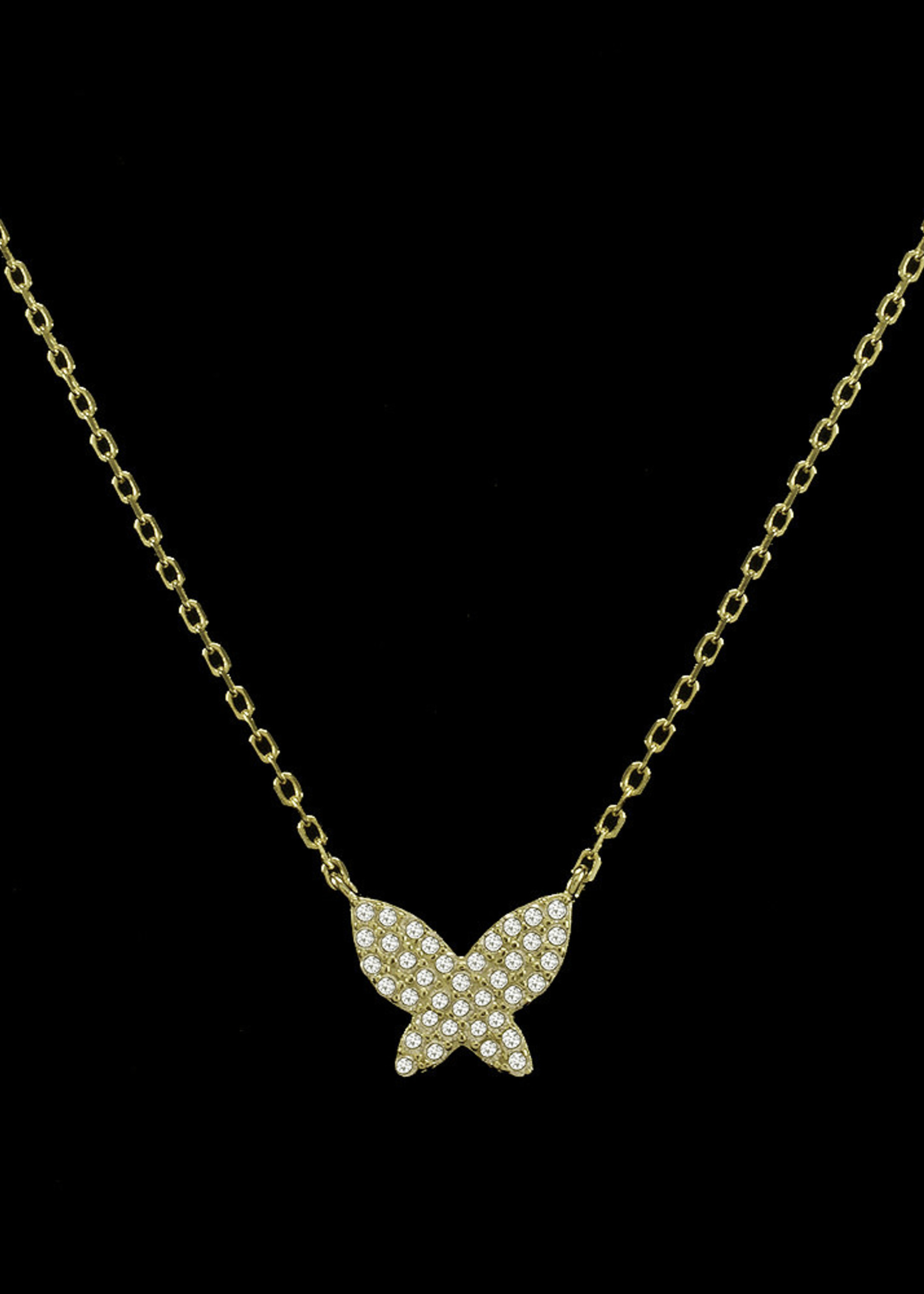 Be-Je Designs Beje - Silver Butterfly Necklace (SS602N)