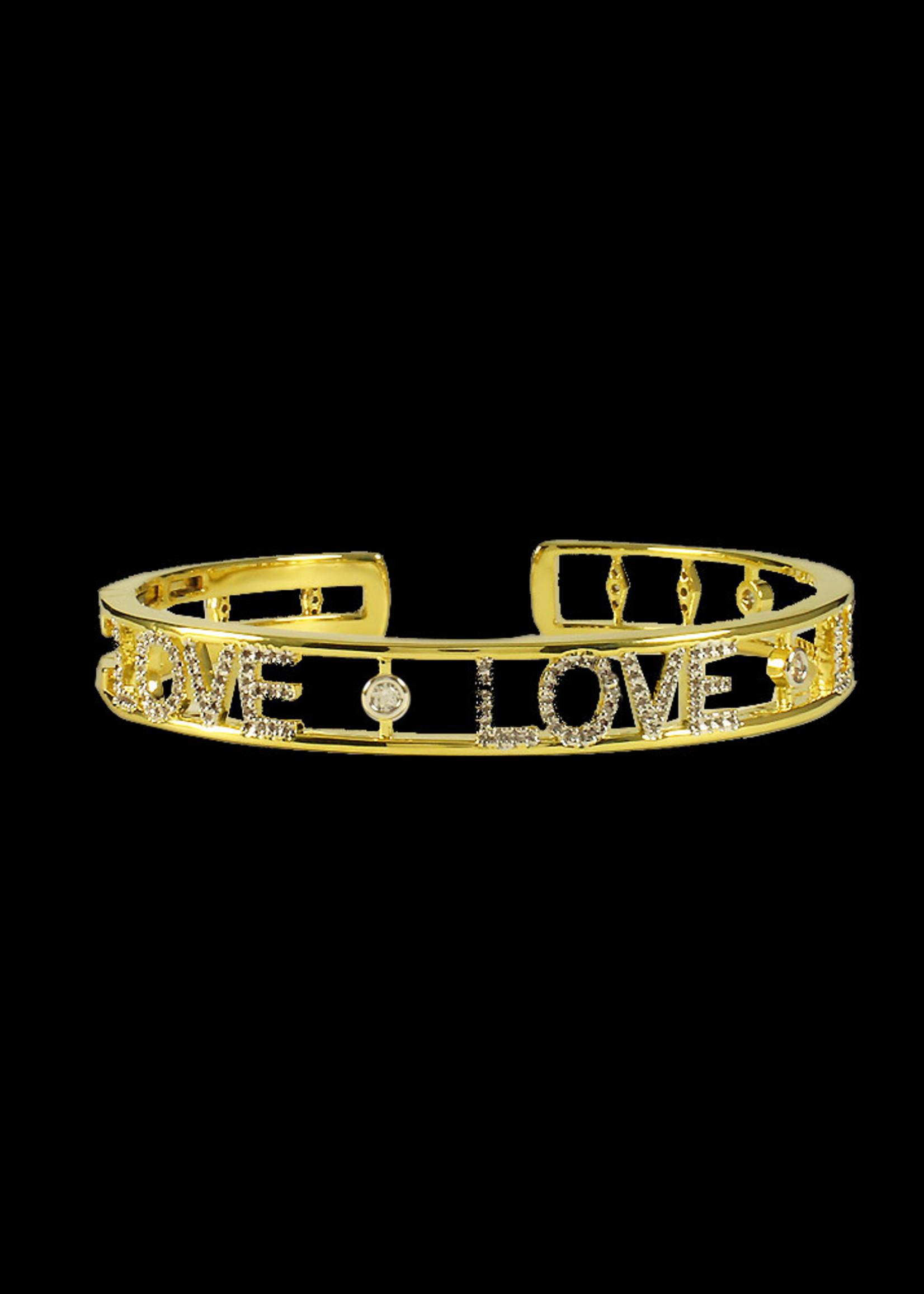 Be-Je Designs Beje - Gold Love Bracelet (PU0848B)