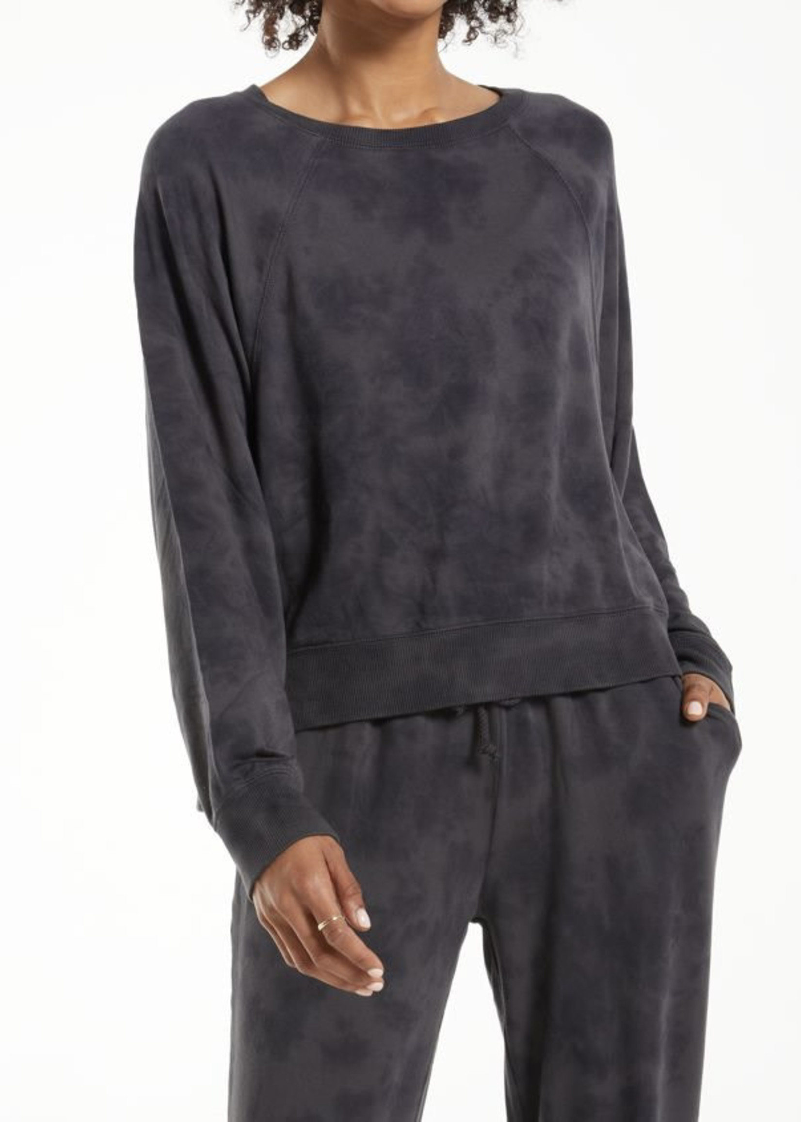 Z Supply ZS - Sleep Over Tie-Dye Sweatshirt