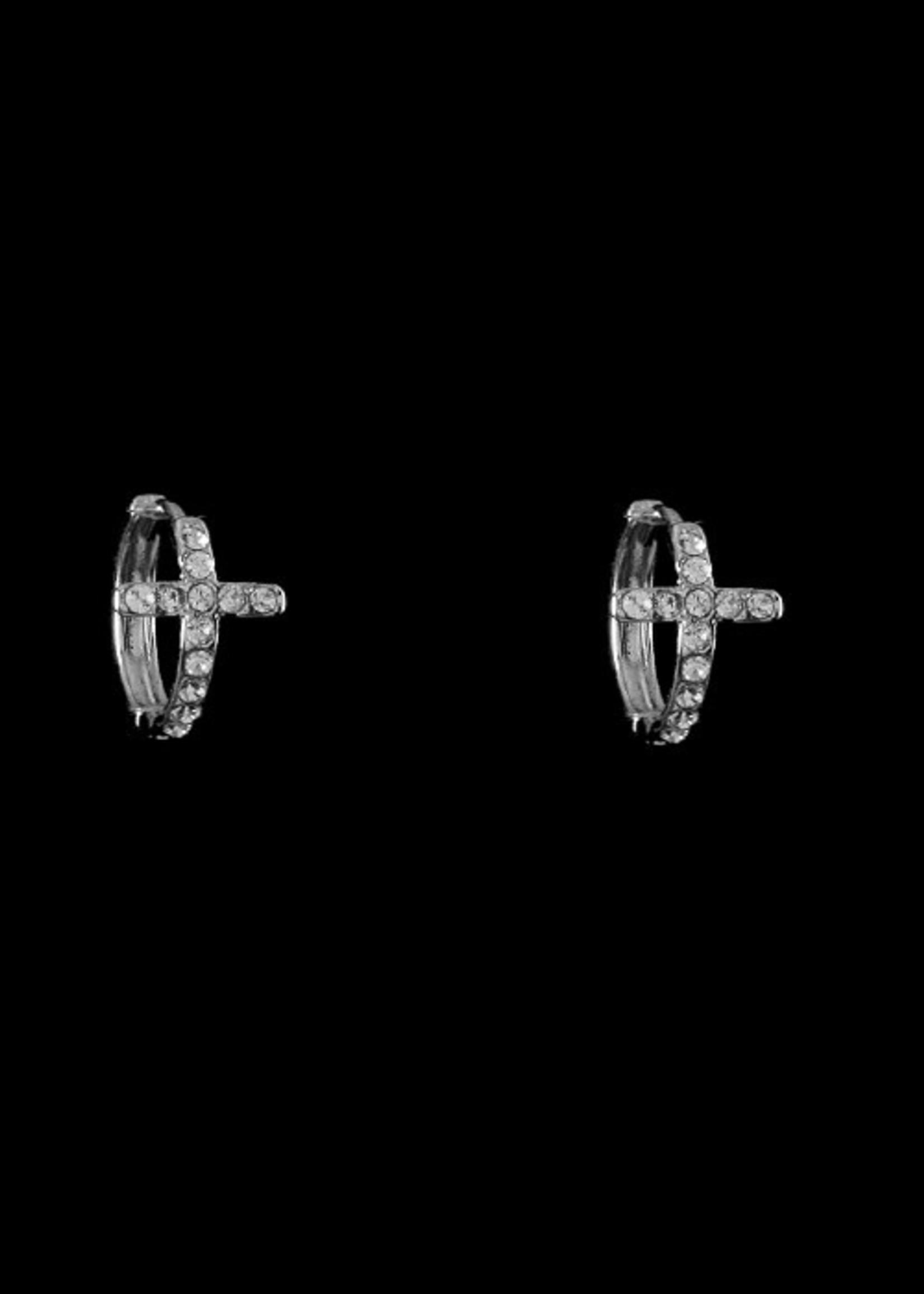 Be-Je Designs Beje - Small Hoop Cross Huggie (SW241ES)