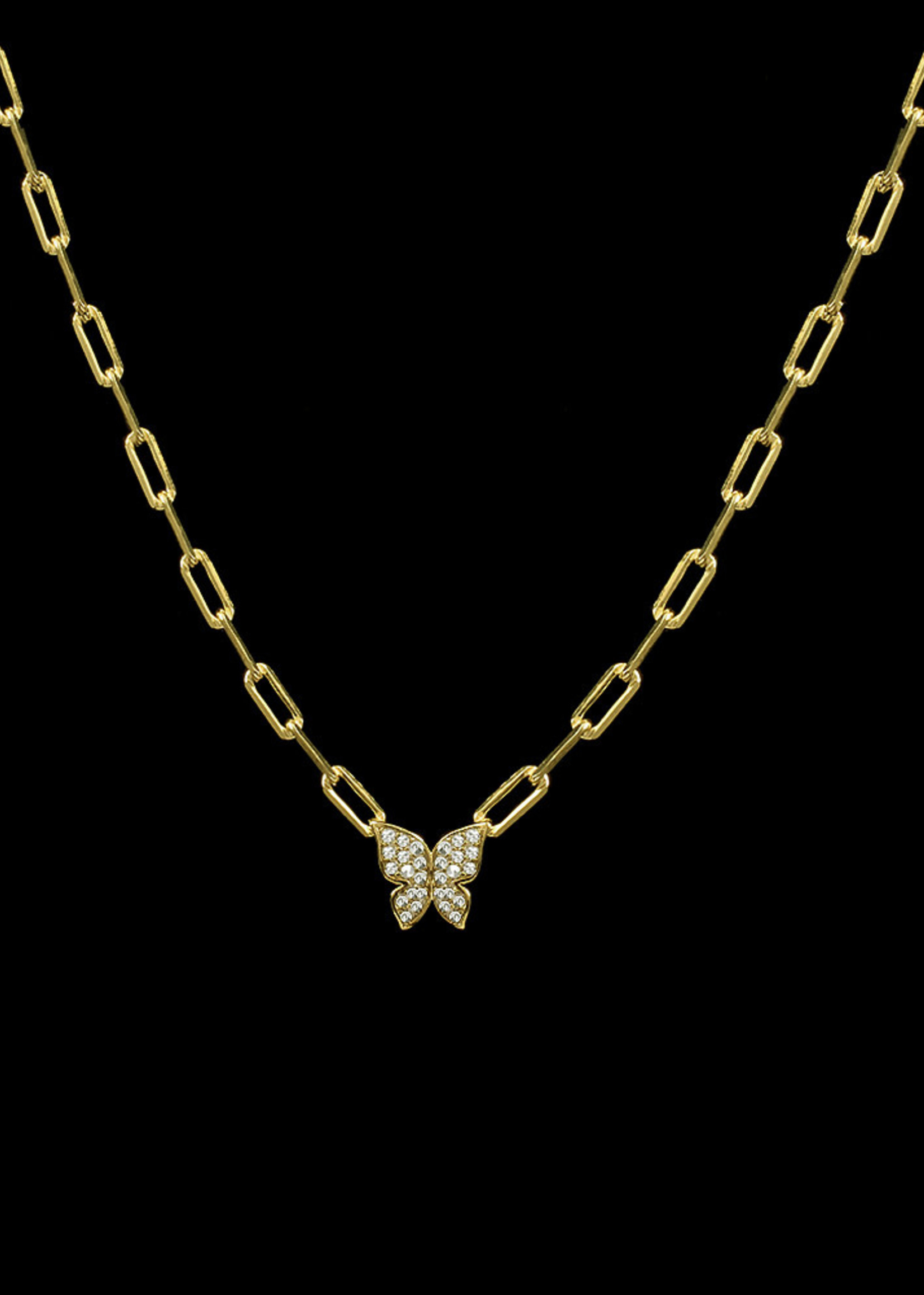 Be-Je Designs Beje - Small Butterfly Necklace (AK000164N)