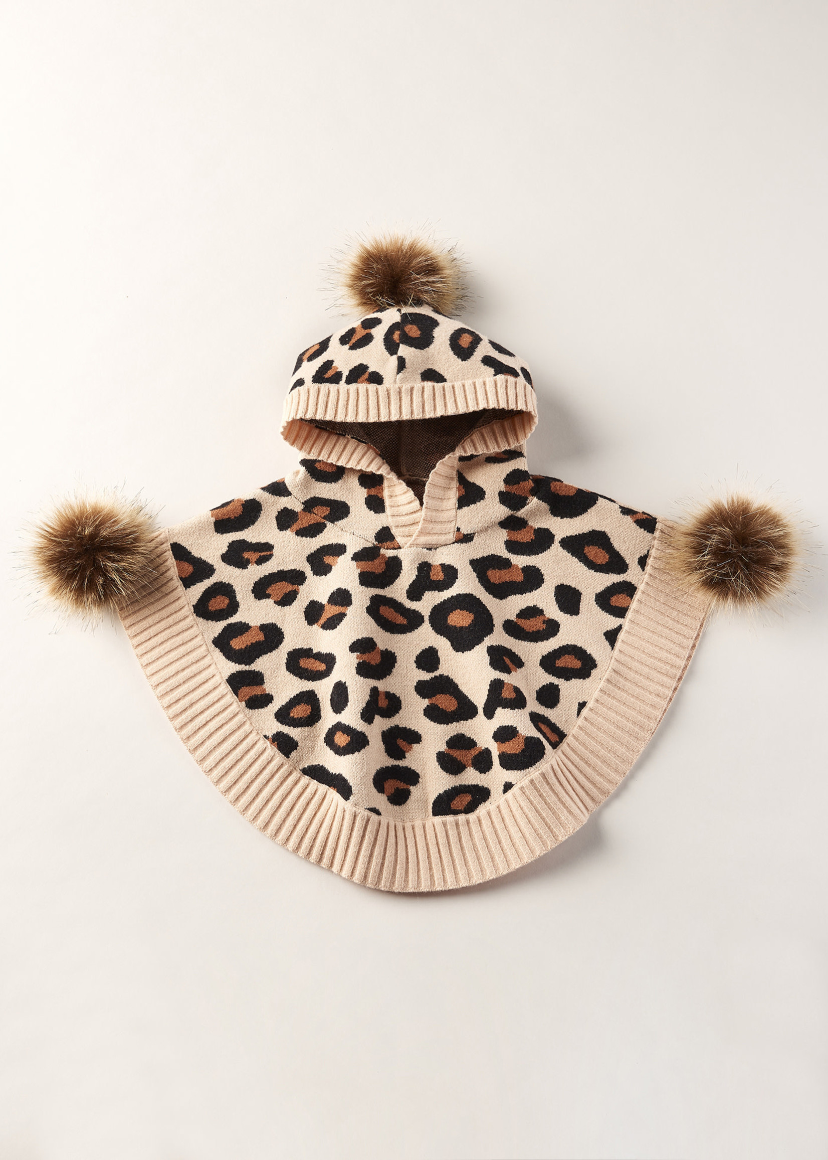 Cartwheels Cartwheels - Knitted Leopard Poncho