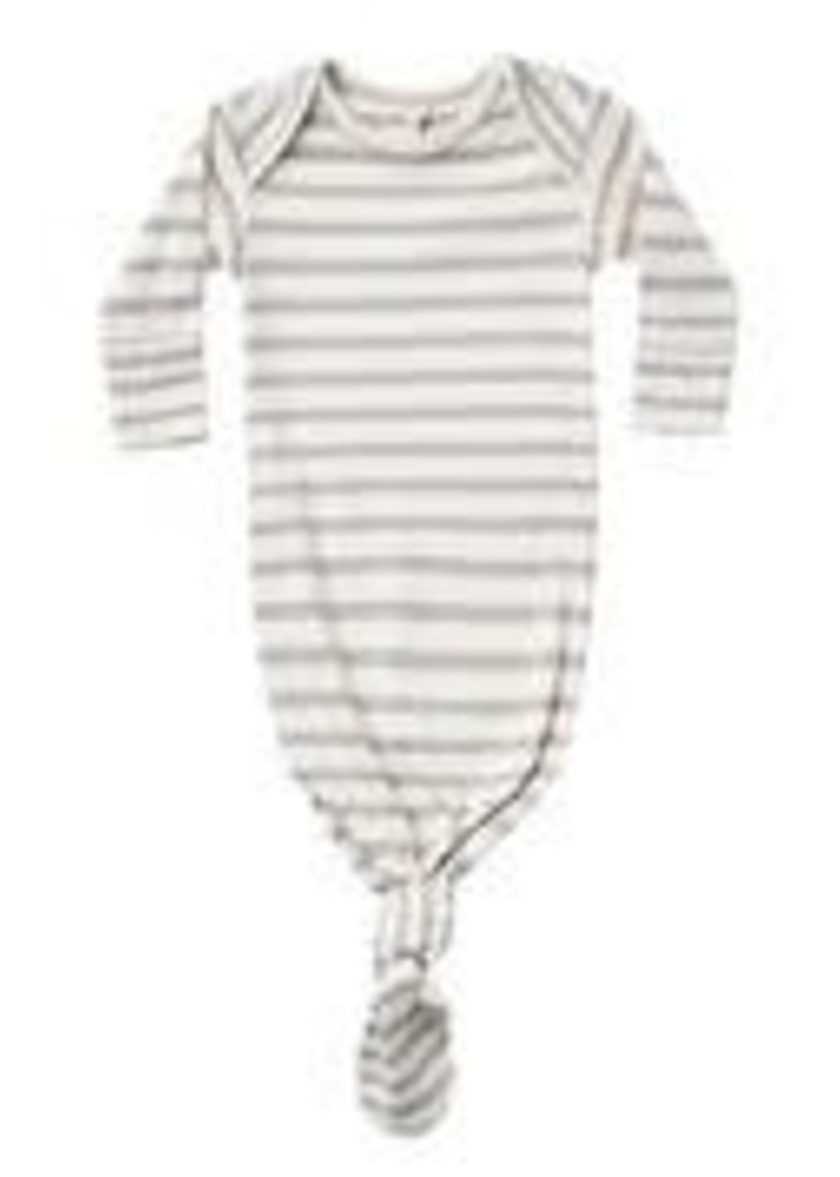 Quincy Mae Quincy Mae - Ribbed Knotted Baby Gown