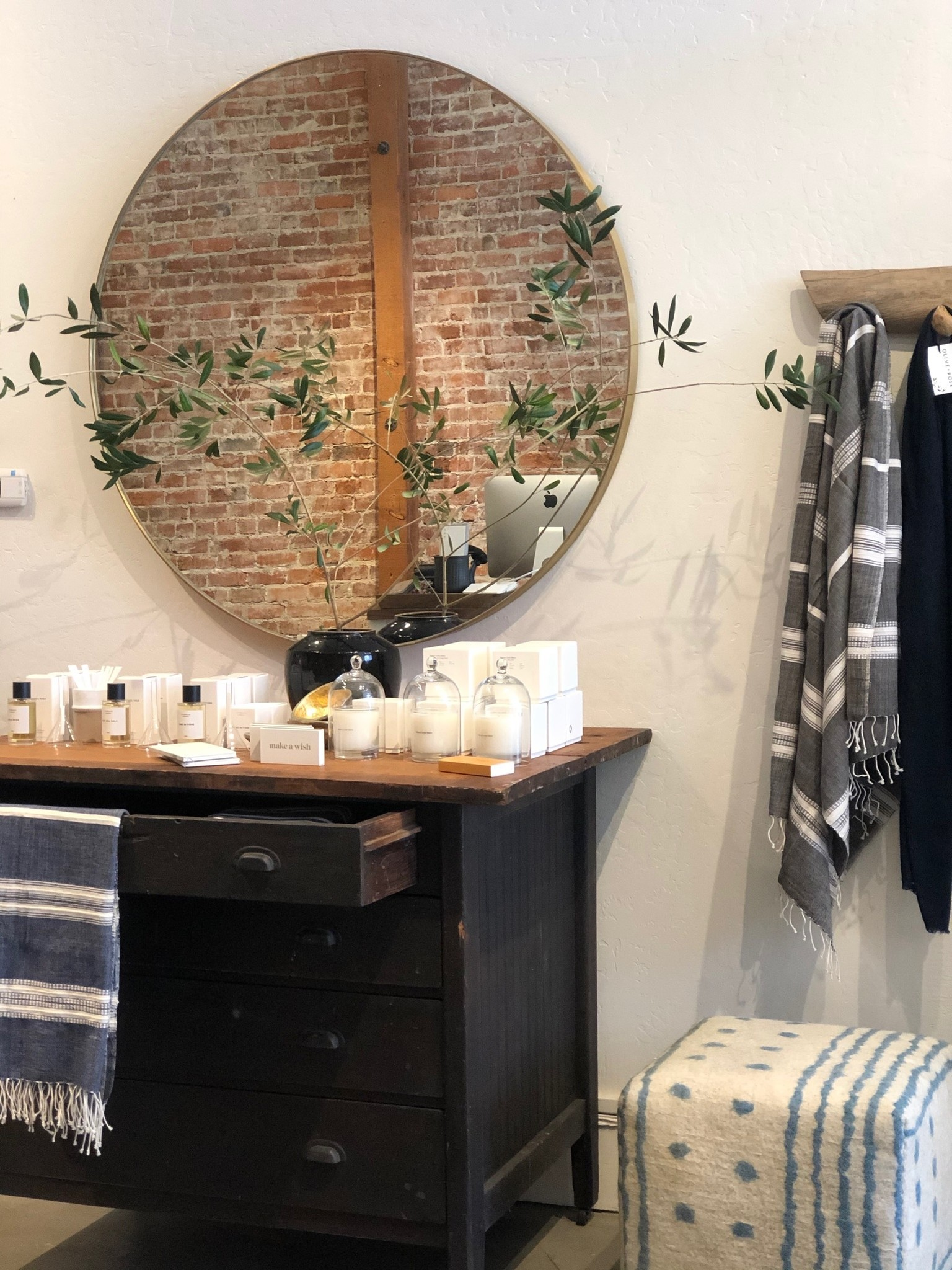 Inside the Olive and Rose shop in Santa Rosa CA