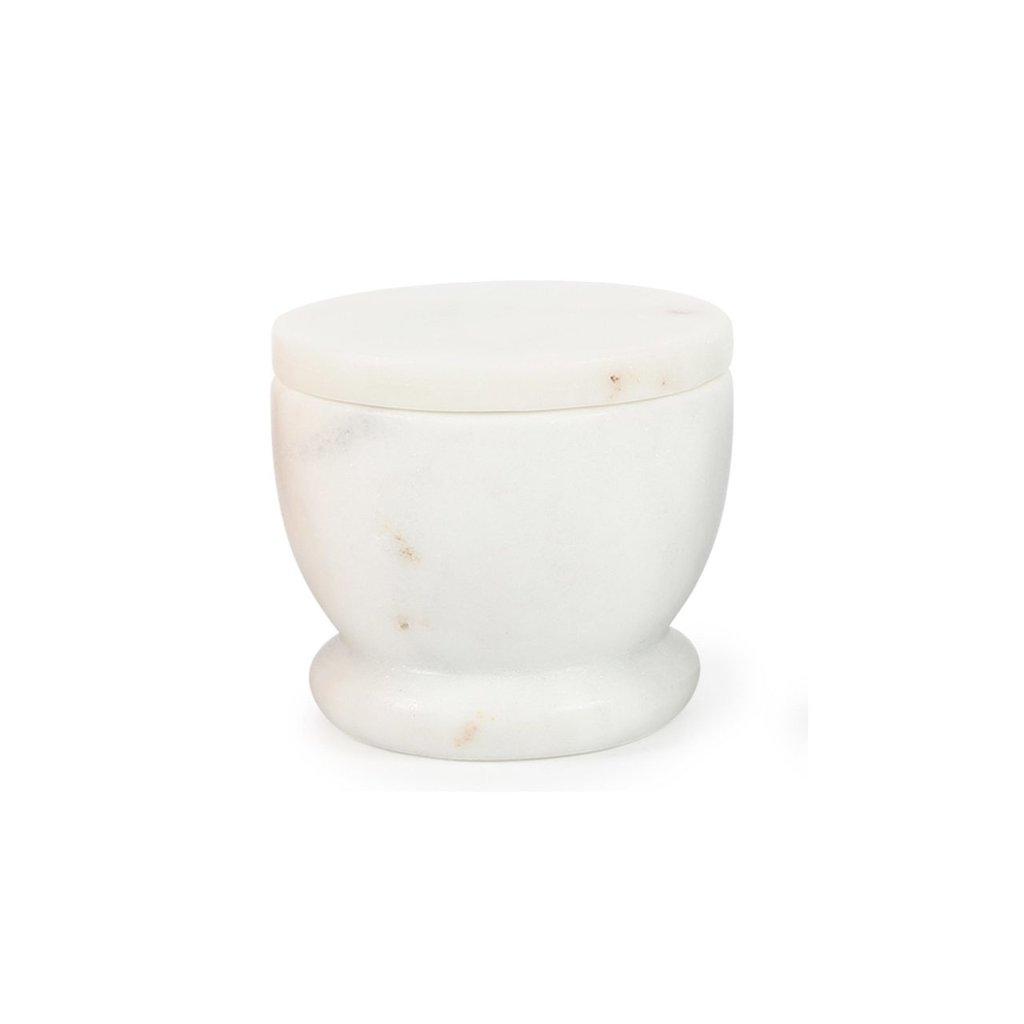 White Marble Lidded Cellar