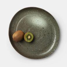 Blue Pheasant Marcus Salt Glaze Dinner Plate in Gray