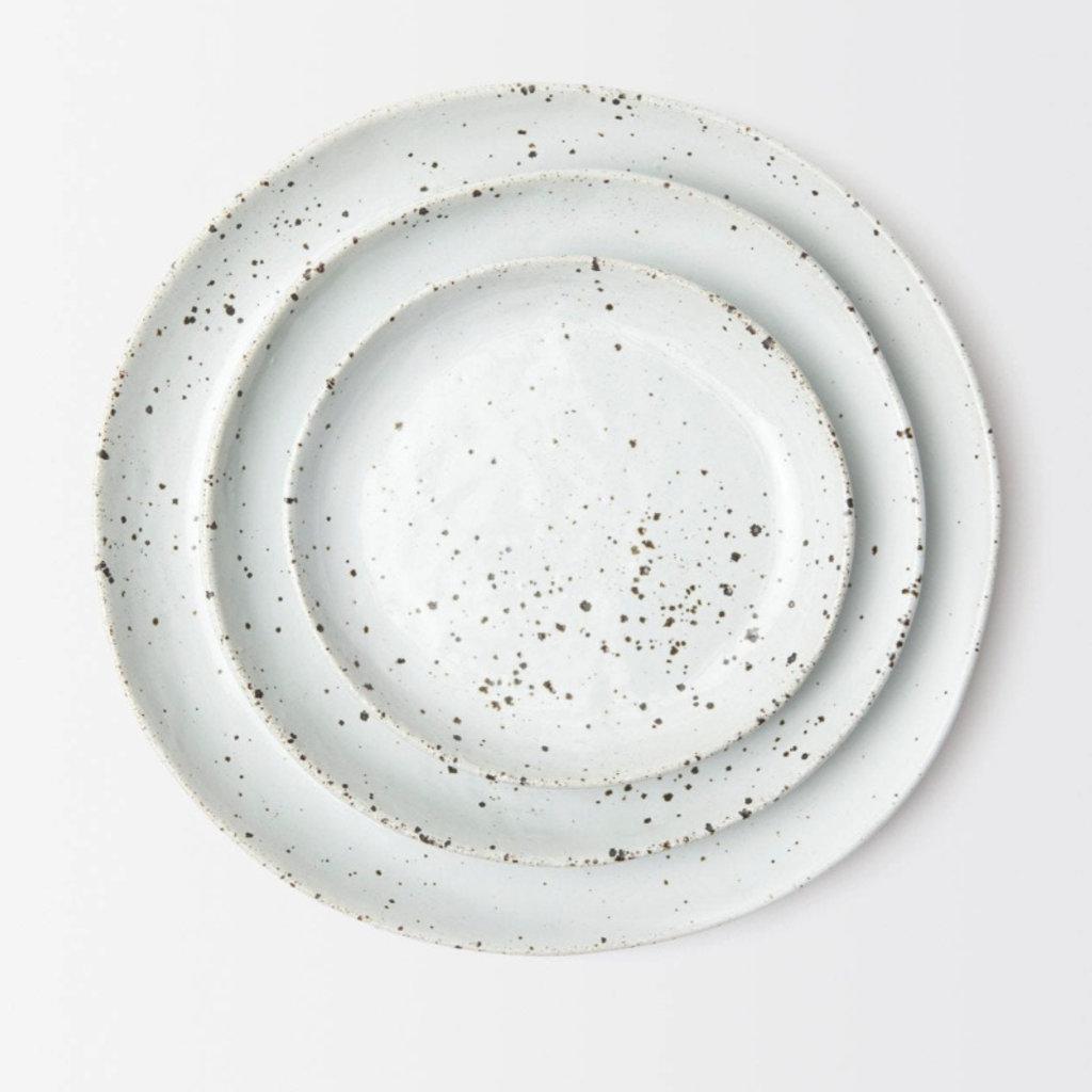 Blue Pheasant Marcus Salt Glaze Salad/Dessert Plate in White