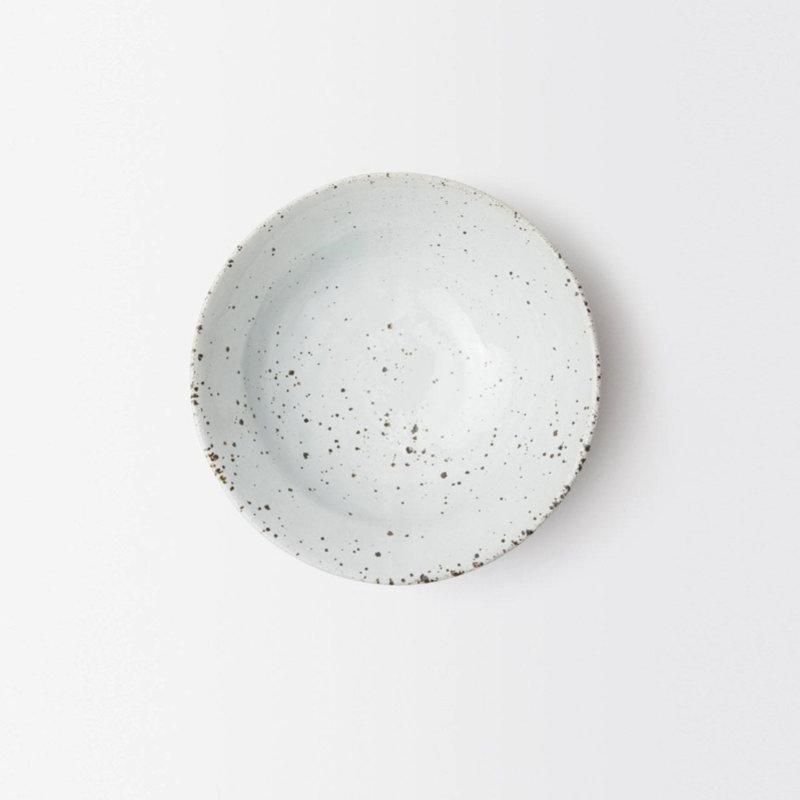 Blue Pheasant Marcus Salt Glaze Cereal/Ice Cream Bowl in White